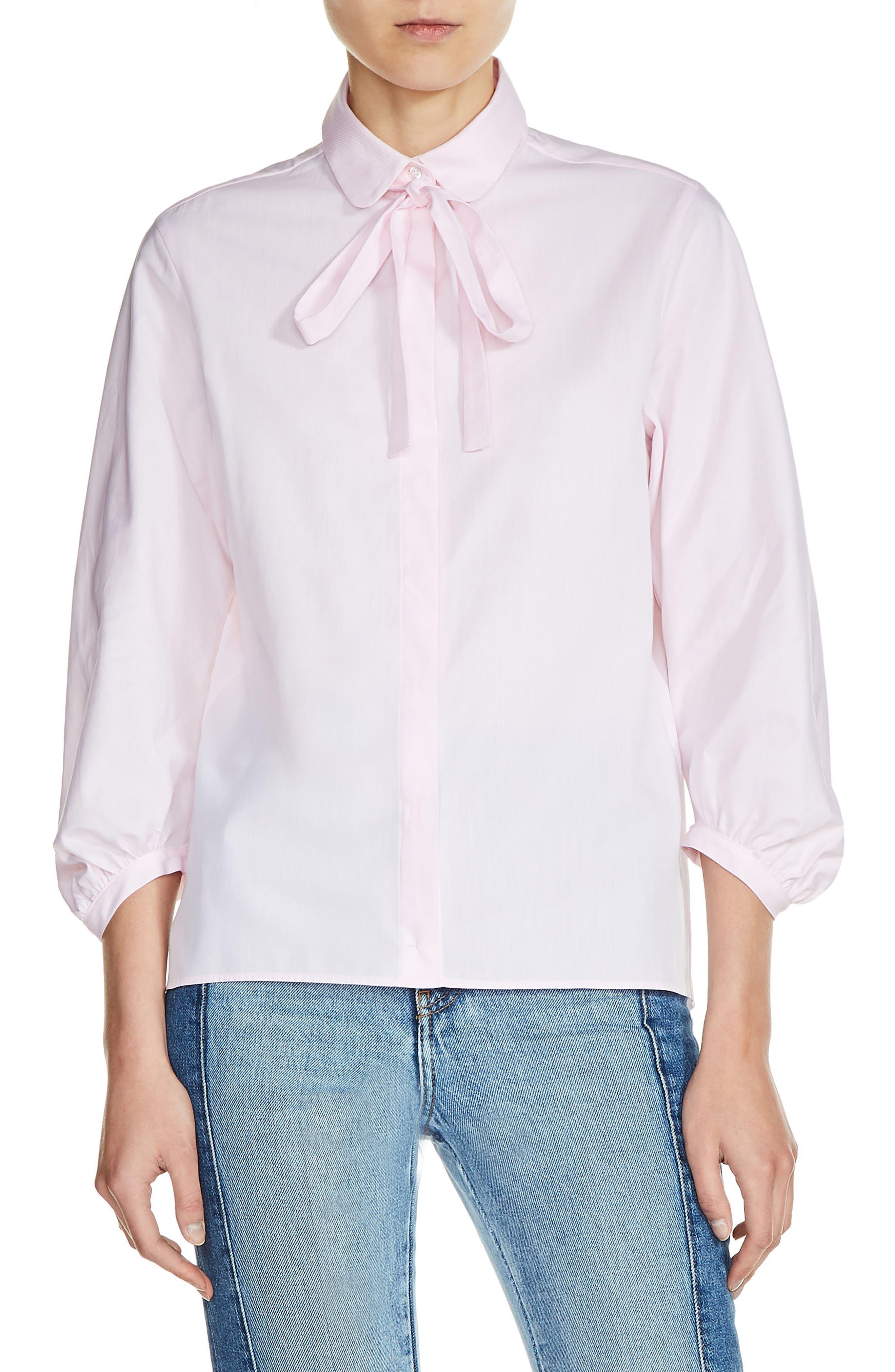 maje Tie Neck Shirt