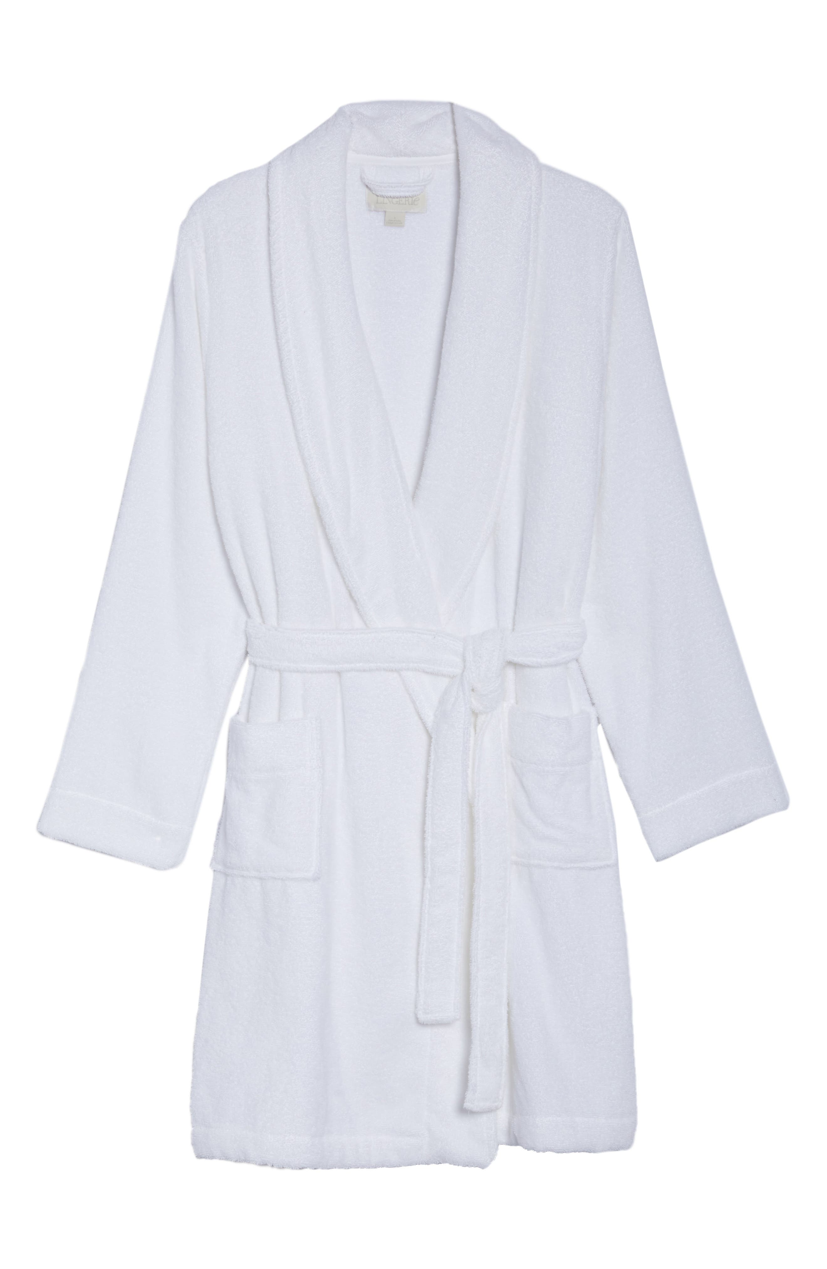 Alternate Image 4  - Nordstrom Lingerie Terry Robe