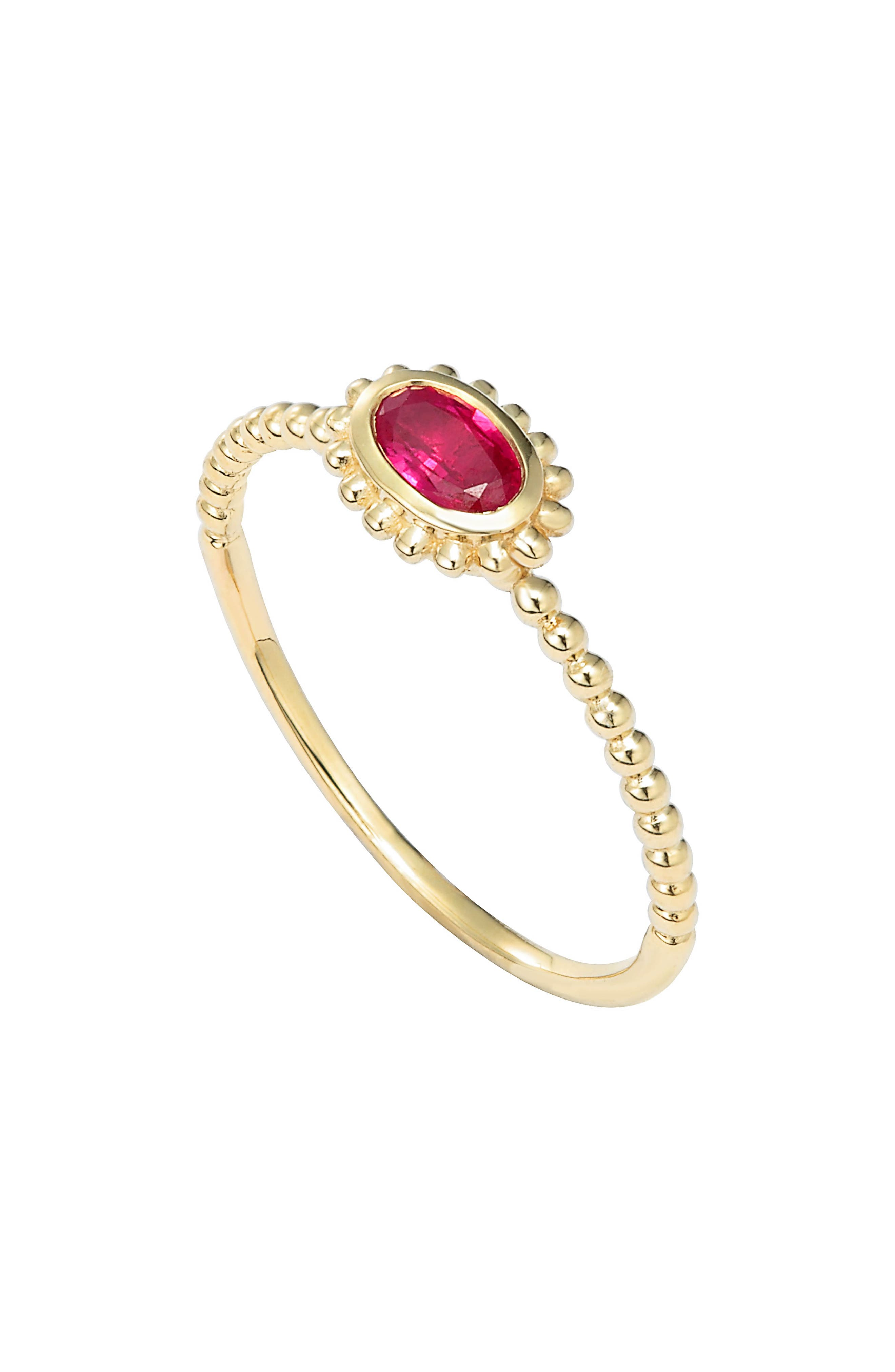 LAGOS 'Covet' Oval Stone Caviar Stack Ring