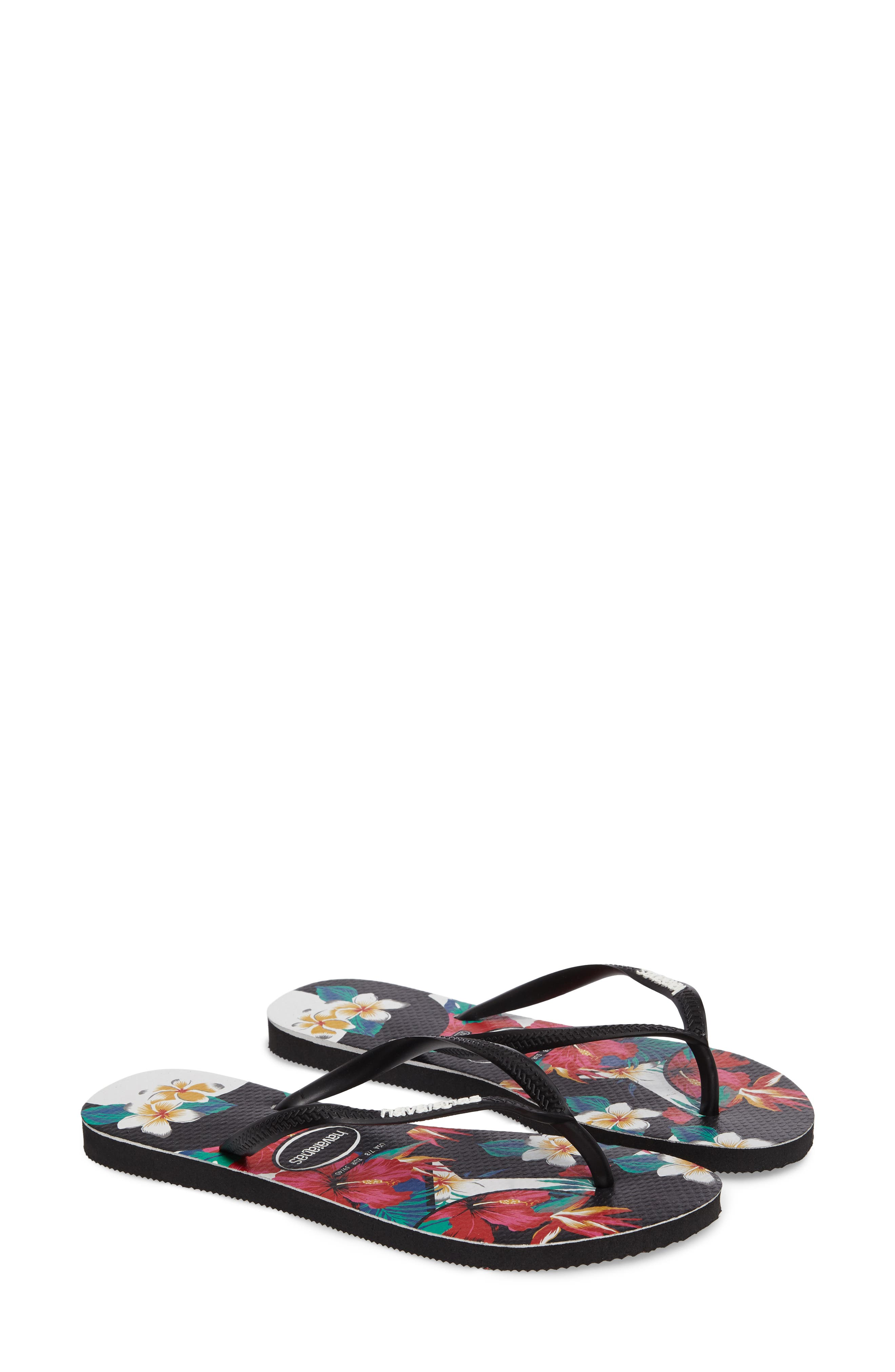 Havaianas Slim Tropical Floral Flip Flop (Women)