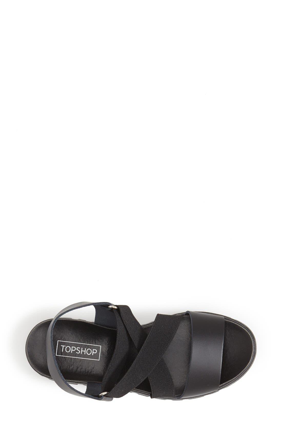Alternate Image 3  - Topshop 'Folly' Strappy Platform Sandal (Women)