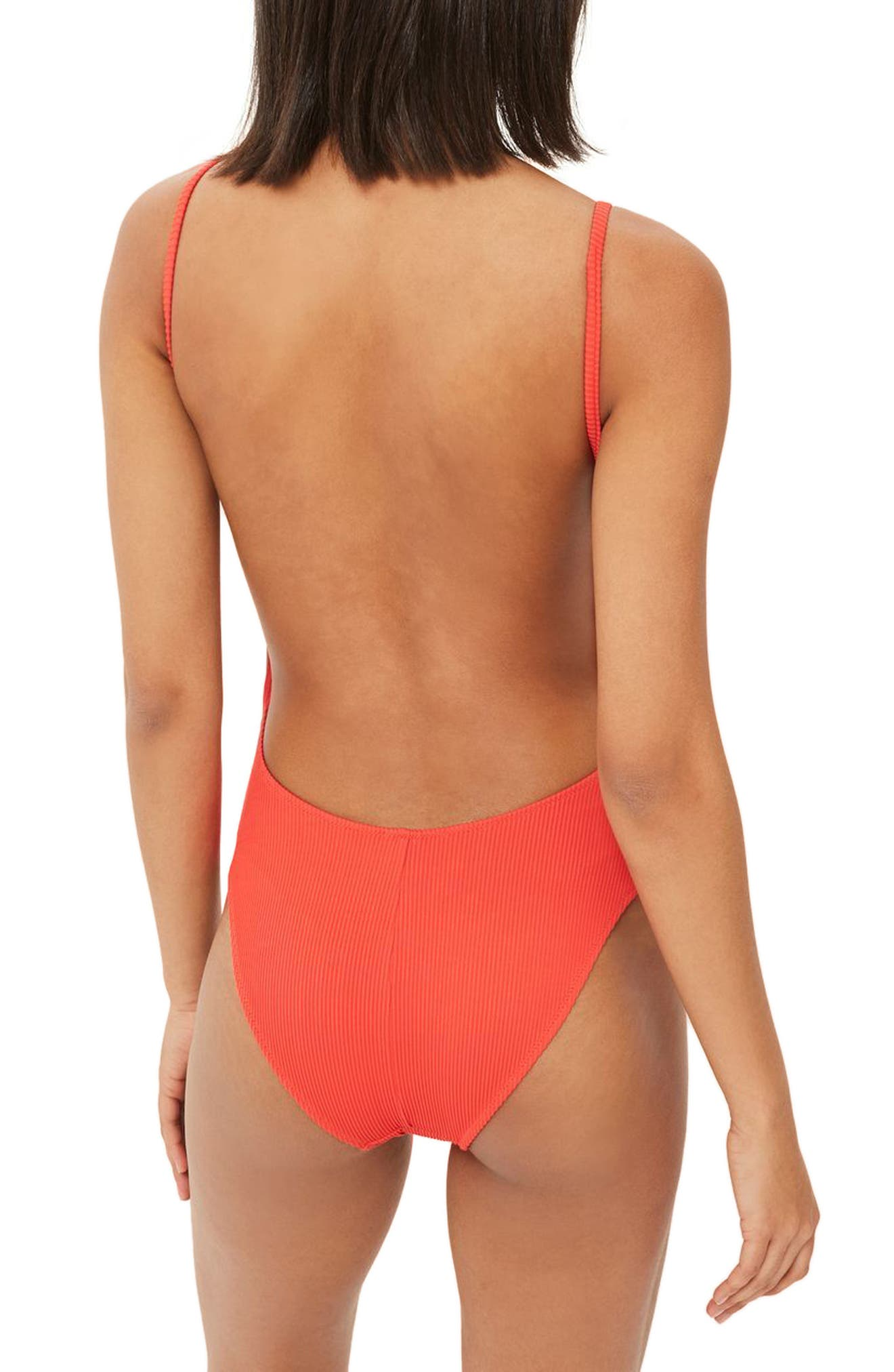 Alternate Image 2  - Topshop Plunge One-Piece Swimsuit