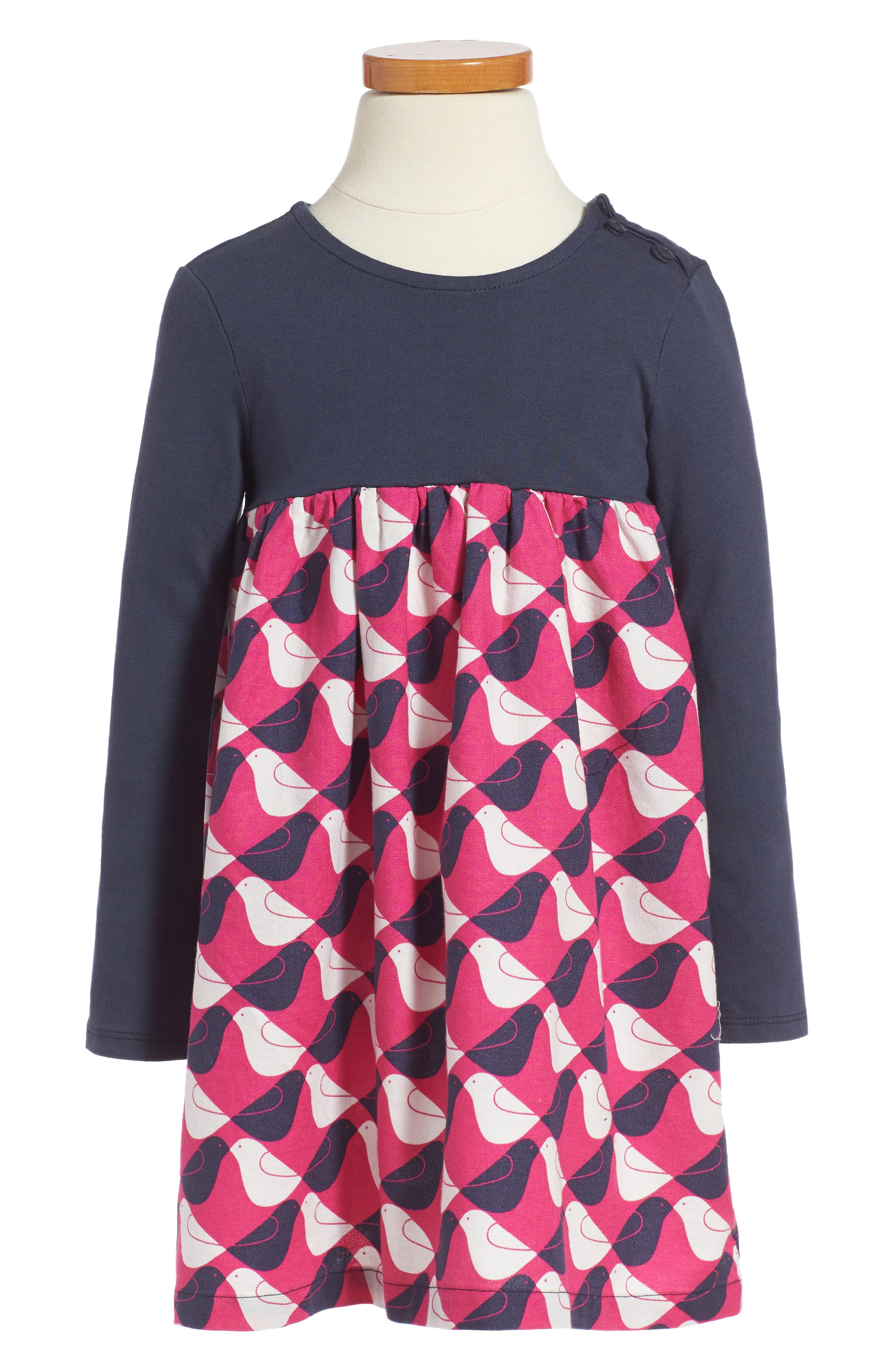 Tea Collection Argyle Birds Dress (Toddler Girls & Little Girls)