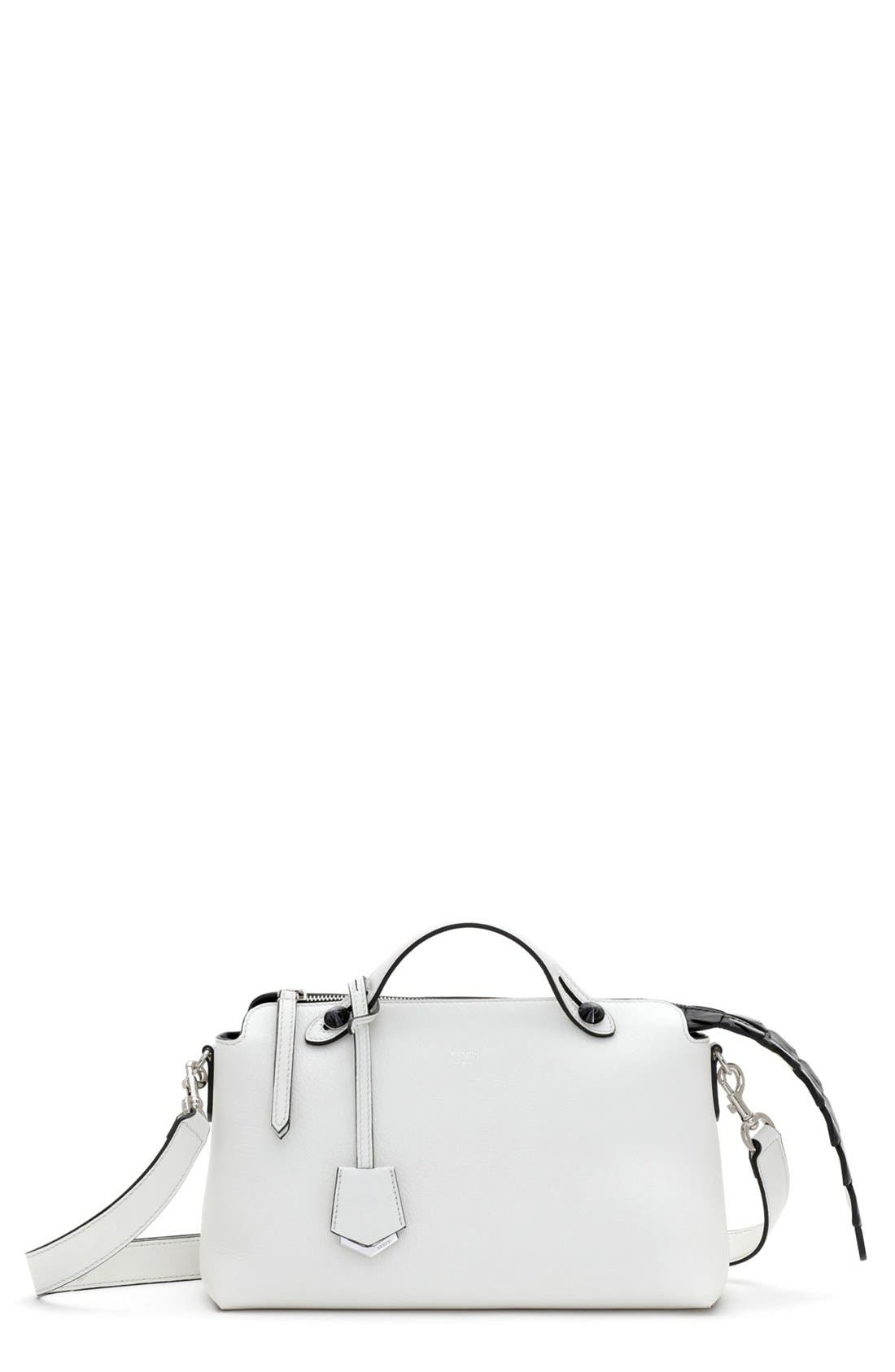 Main Image - Fendi 'Small By the Way - Croc-Tail' Convertible Leather Shoulder Bag