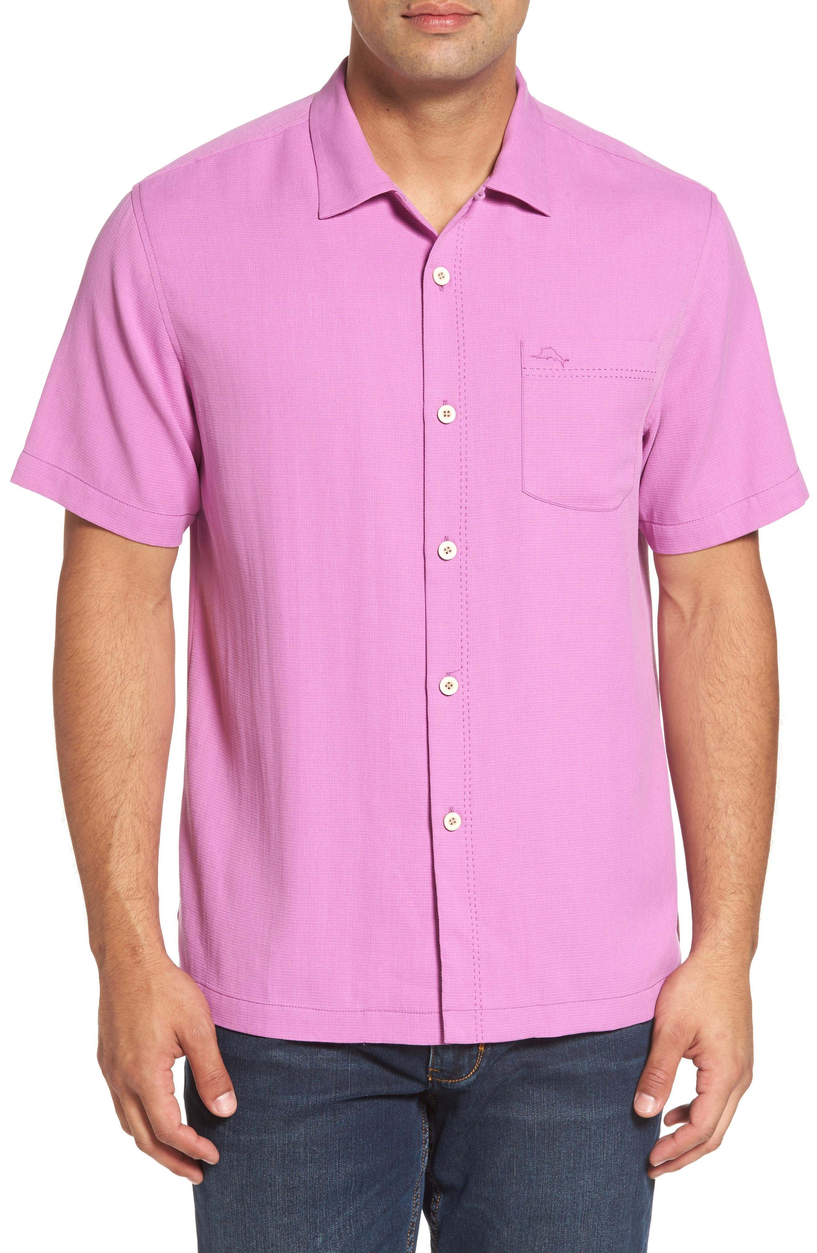 Tommy Bahama Royal Bermuda Silk Blend Camp Shirt (Big & Tall)