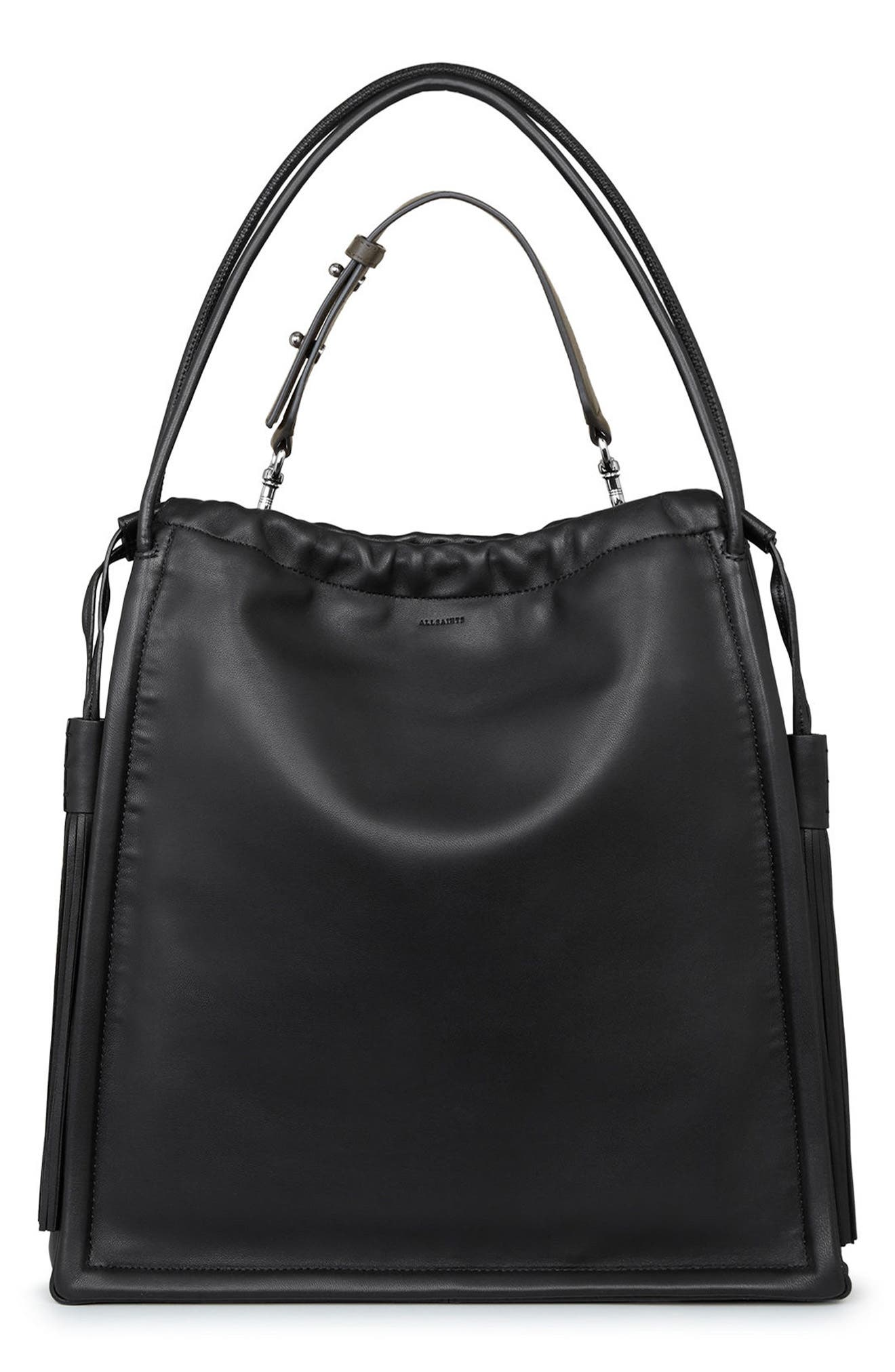 ALLSAINTS Dive Lambskin Leather Tote