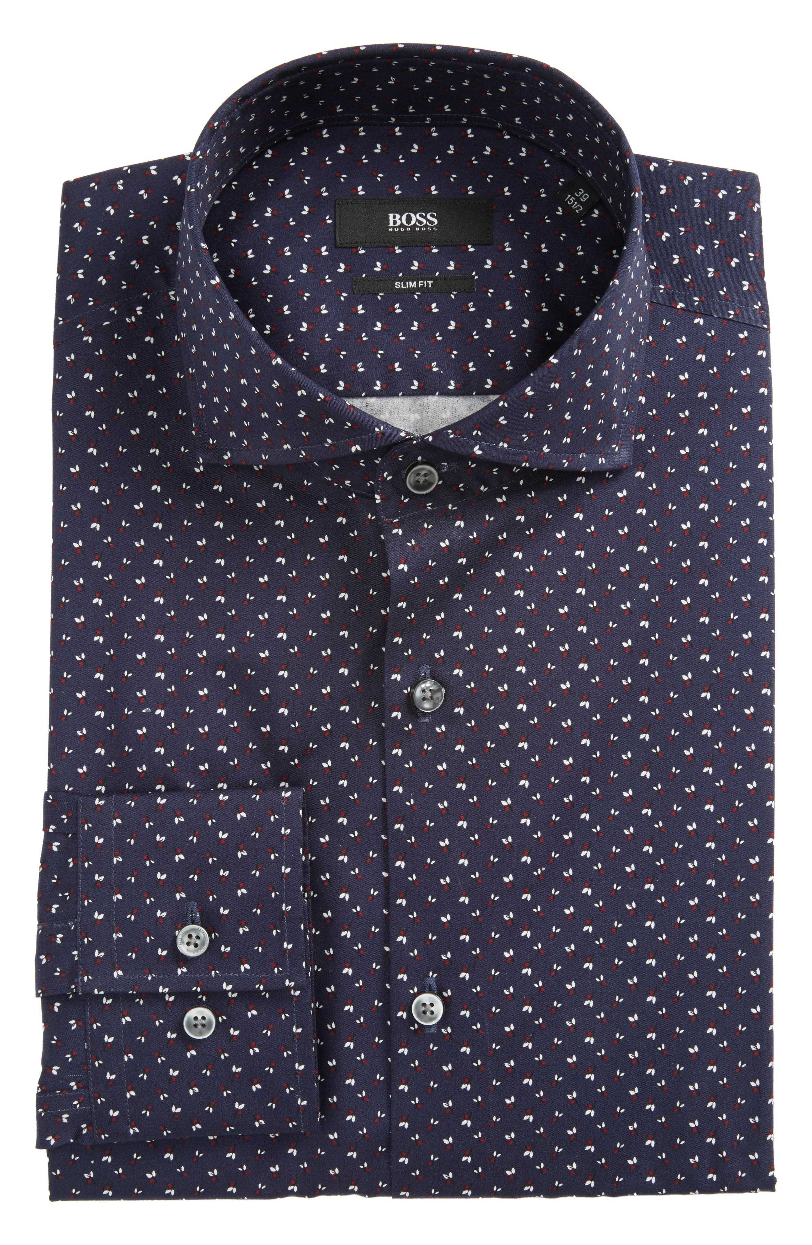 BOSS Jason Slim Fit Print Dress Shirt