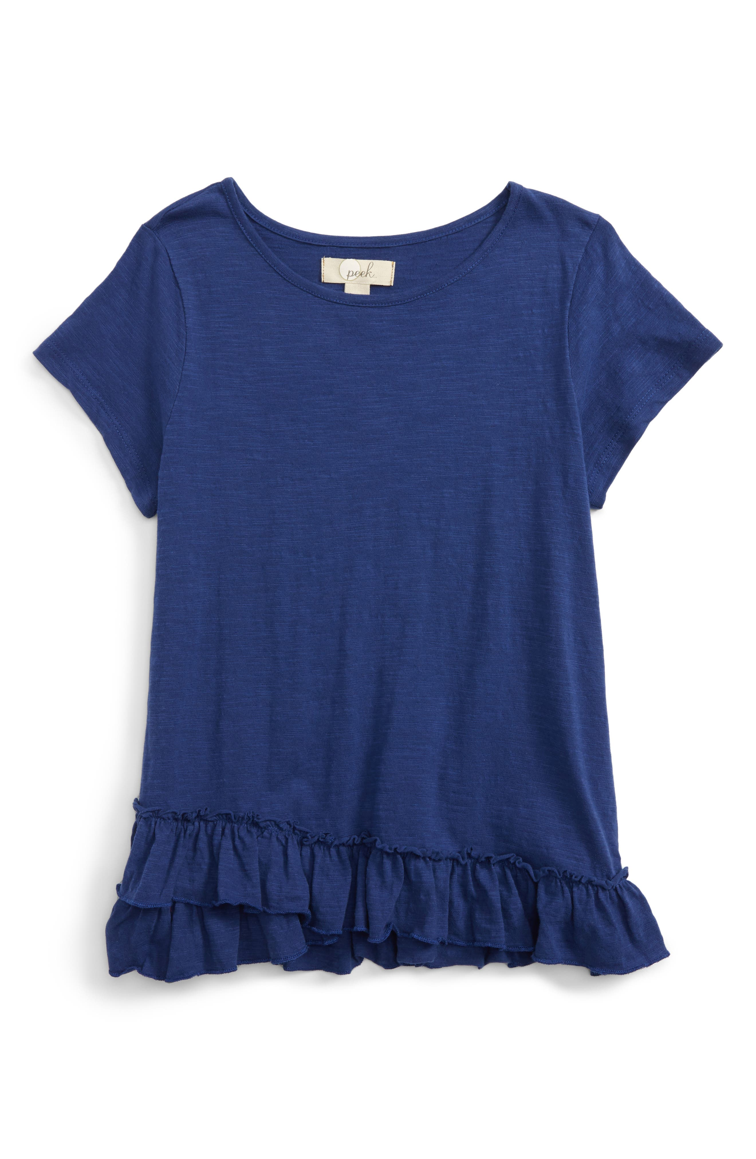 Peek Jessica Ruffle Tee (Toddler Girls, Little Girls & Big Girls)