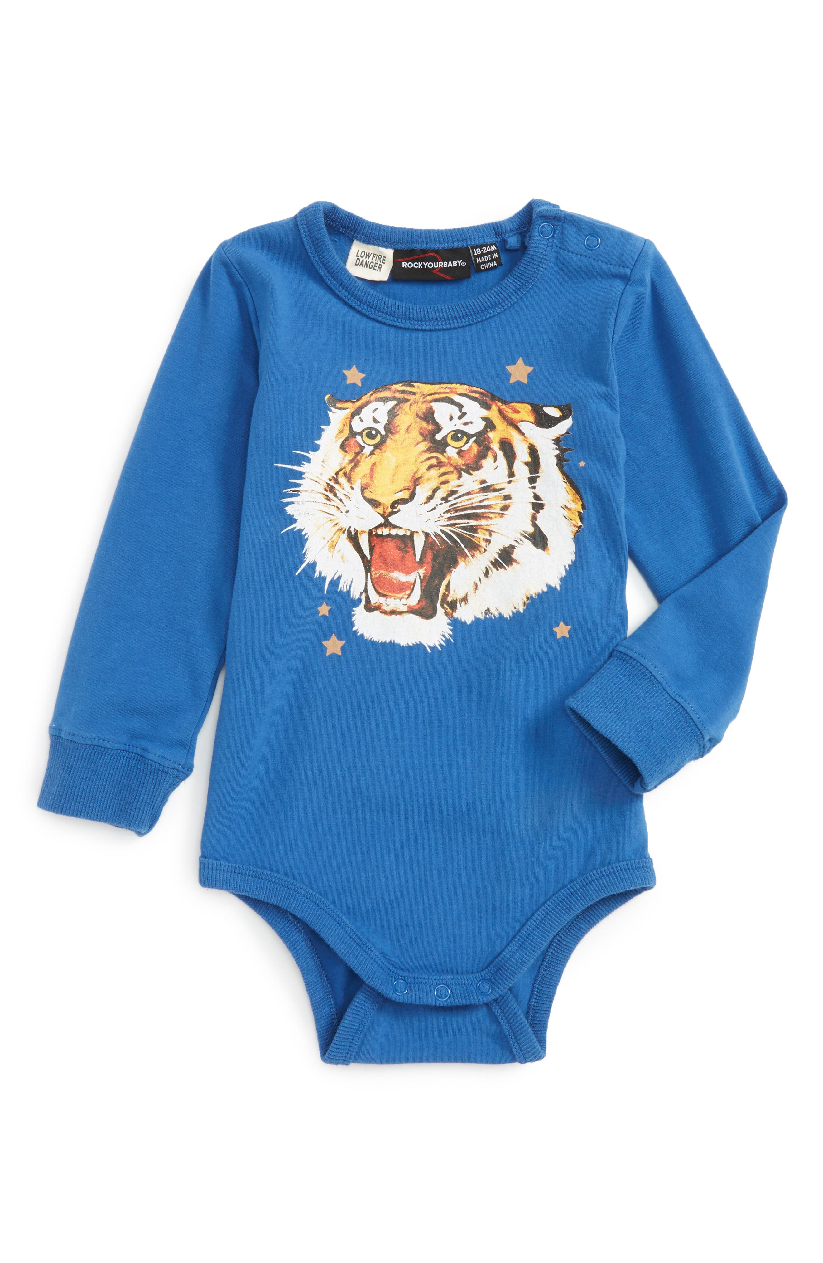Rock Your Baby Tiger Star Bodysuit (Baby Boys)