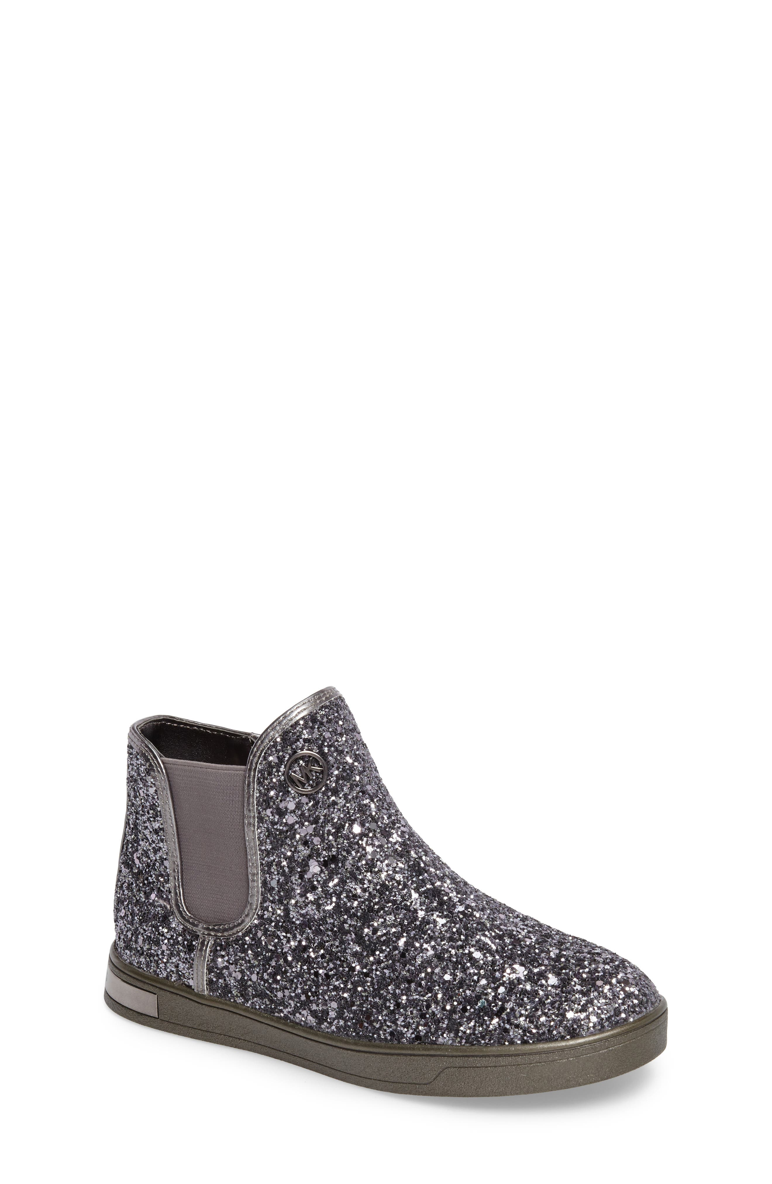 MICHAEL Michael Kors Ollie Rae Glittery Sneaker Boot (Walker, Toddler, Little Kid & Big Kid)