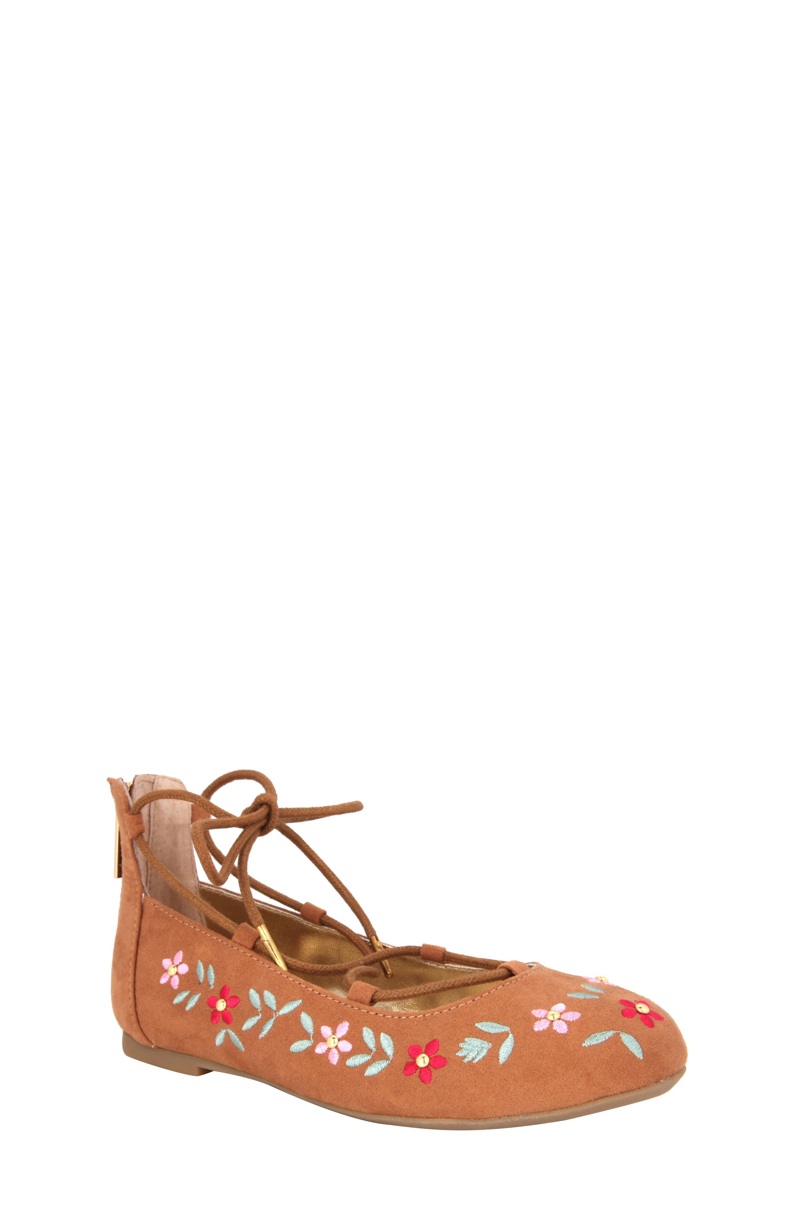 Nina Nelly Embroidered Ghillie Flat (Little Kid & Big Kid)