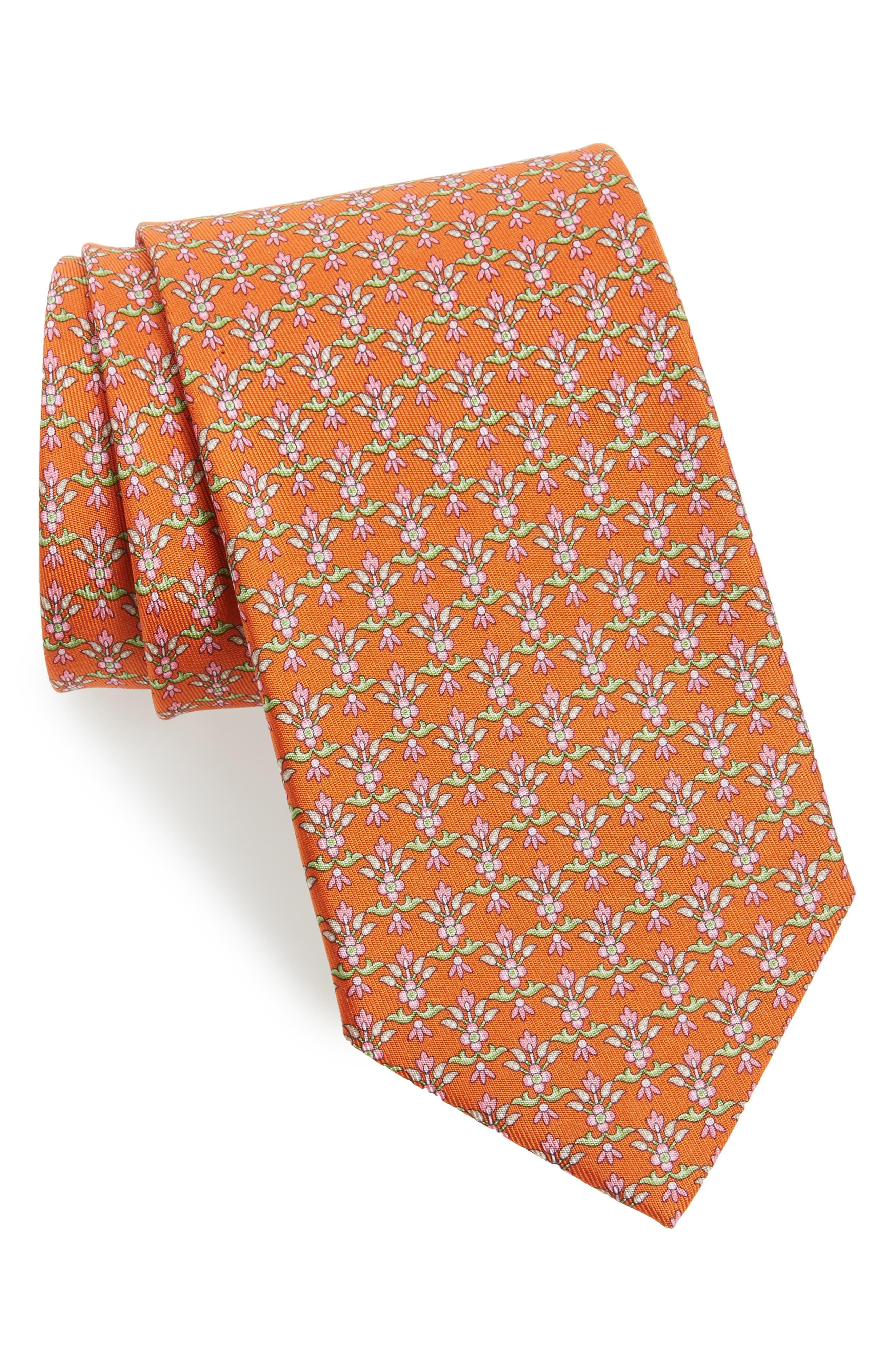 Salvatore Ferragamo Dalia Geometric Silk Tie