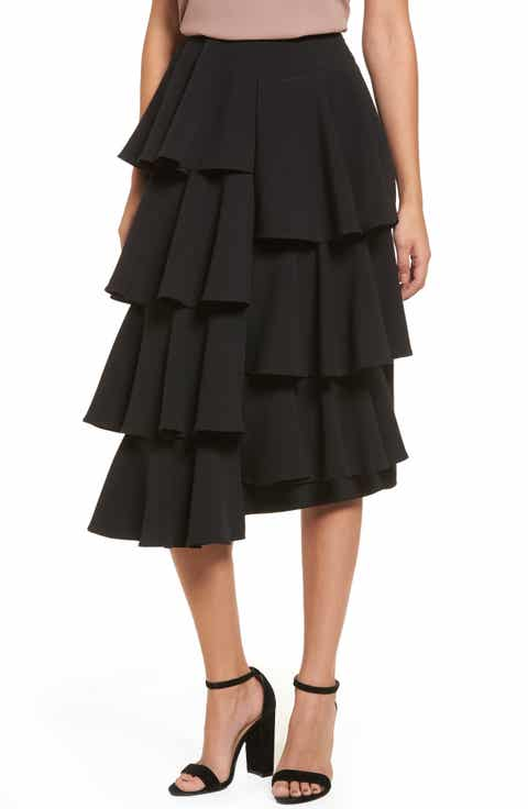 Midi Skirts: Lace, Print, Pencil, Tiered, Tube & More | Nordstrom