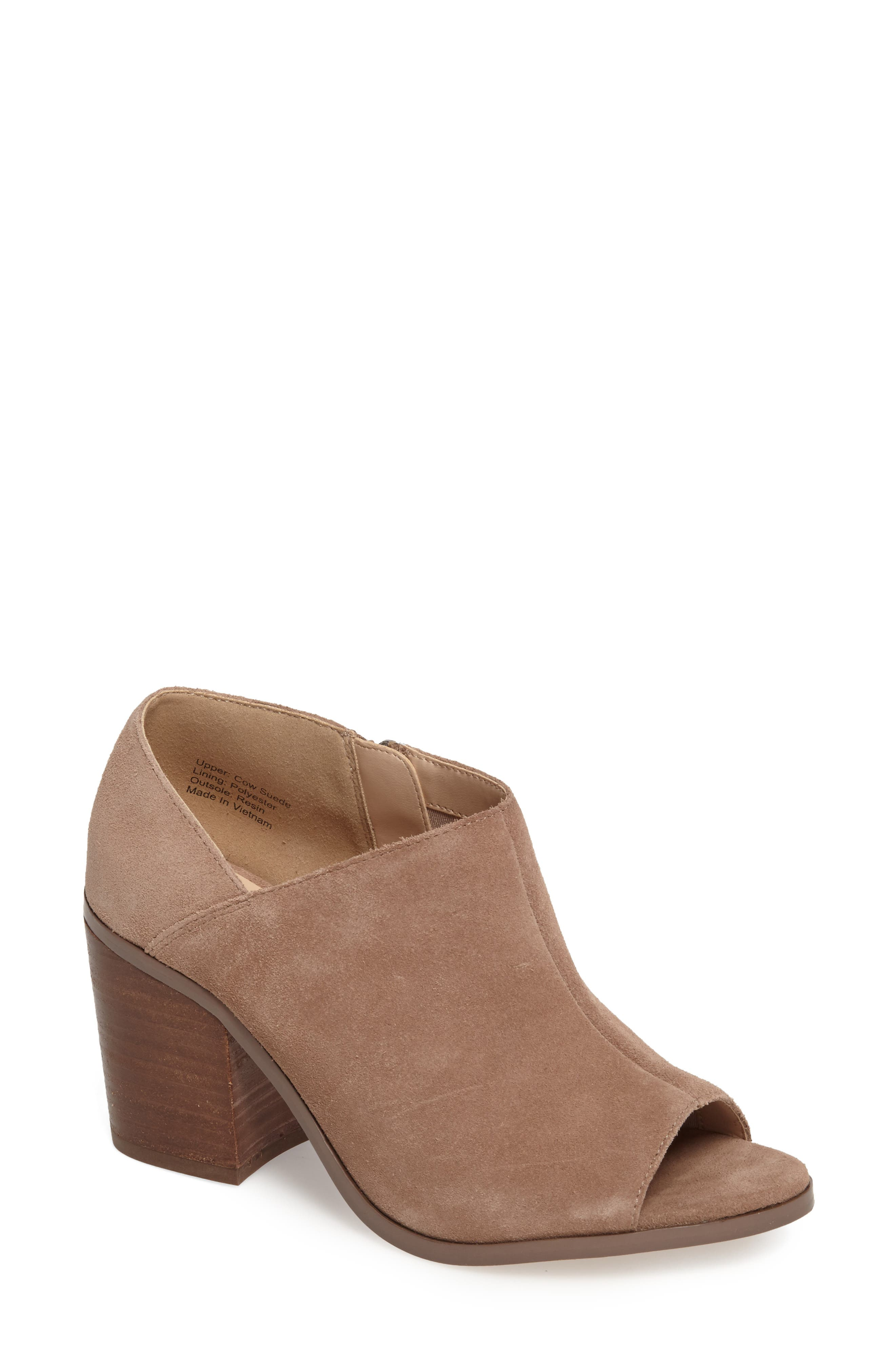 Sole Society Arroyo Peep Toe Bootie (Women)