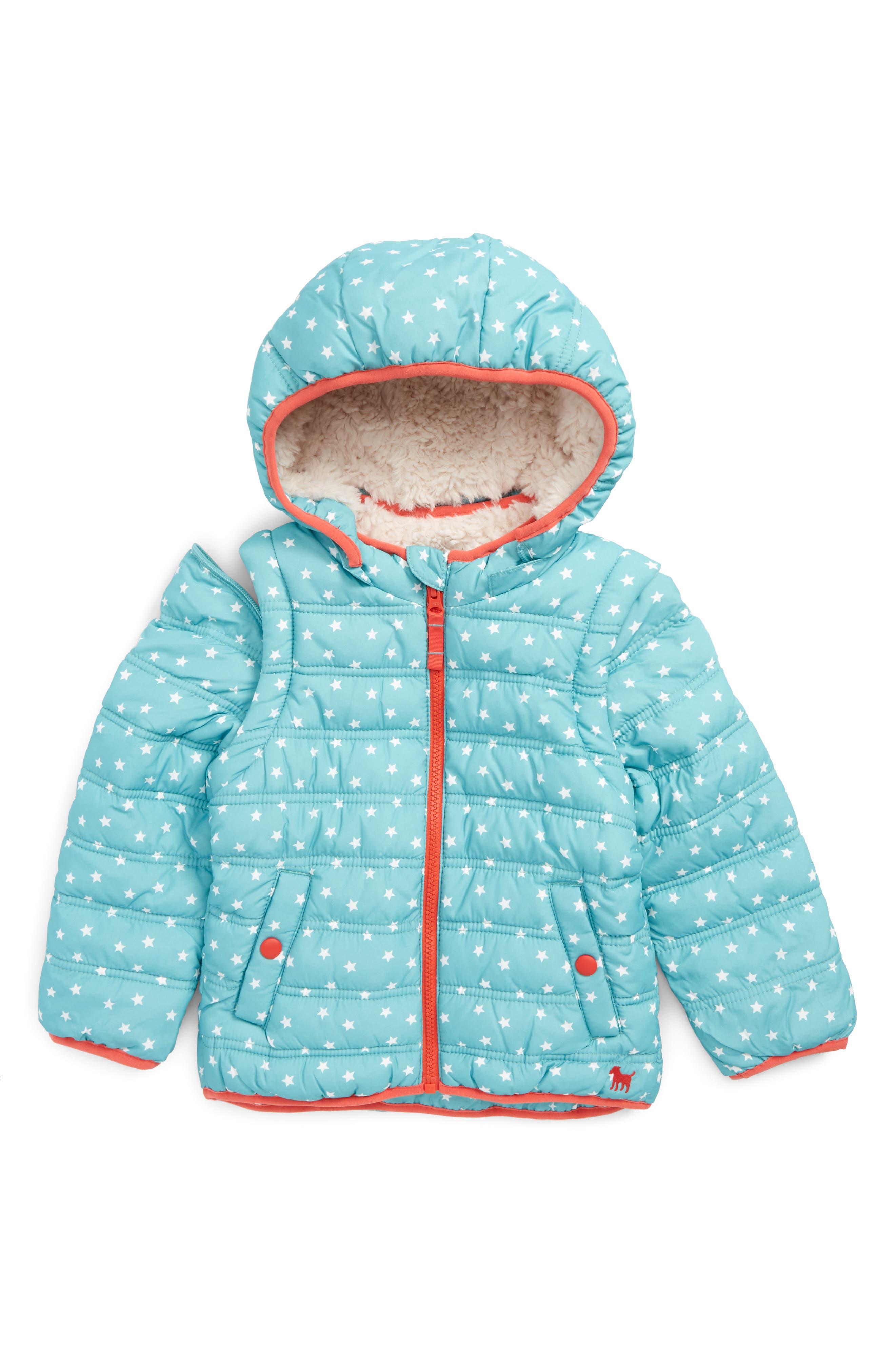 Mini Boden 2-in-1 Water Resistant Padded Jacket (Toddler Girls, Little Girls & Big Girls)