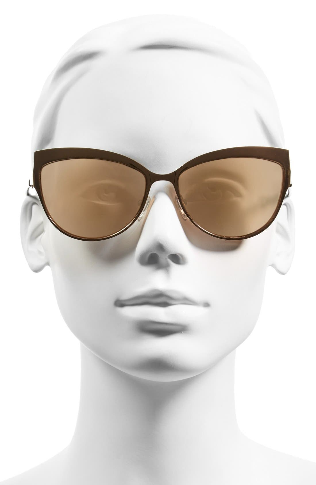 Alternate Image 2  - McQ by Alexander McQueen 'Butterfly' 60mm Stainless Steel Sunglasses