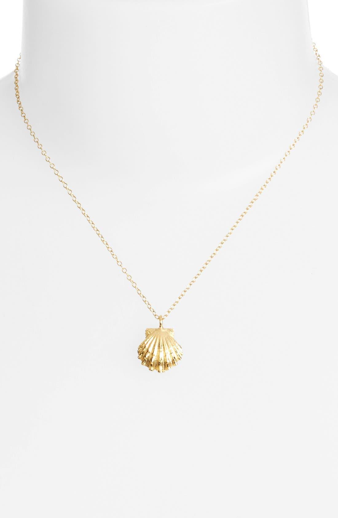 Alternate Image 2  - ki-ele 'Golden Sunrise' Shell Pendant Necklace