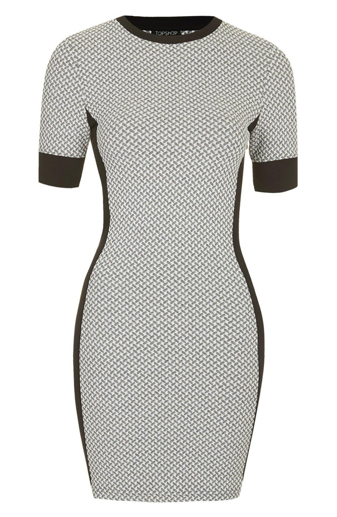 Alternate Image 3  - Topshop Geometric Print Body-Con Dress (Regular & Petite)