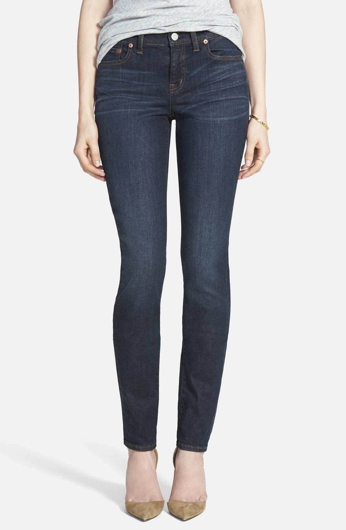 Alternate Image 1 Selected - Madewell 'Alley' Straight Leg Jeans (Waterfall)