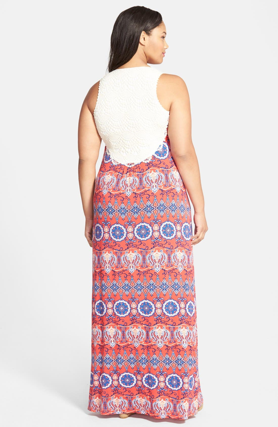 Alternate Image 2  - Felicity & Coco Lace Back Maxi Dress (Plus Size) (Nordstrom Exclusive)