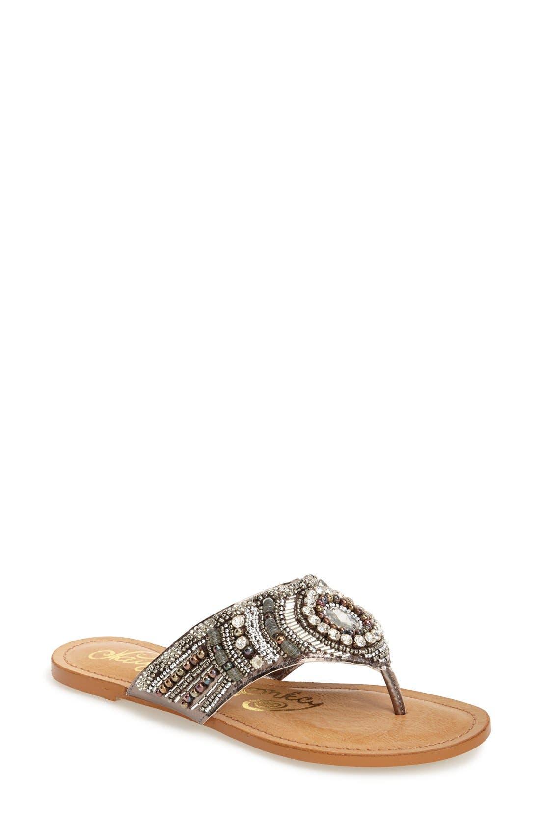 Main Image - Naughty Monkey 'Electric Shine' Embellished Sandal (Women)
