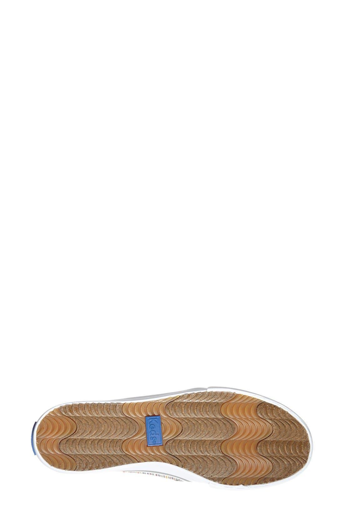 Alternate Image 4  - Keds® 'Double Decker - Woven Stripe' Slip-On Sneaker (Women)