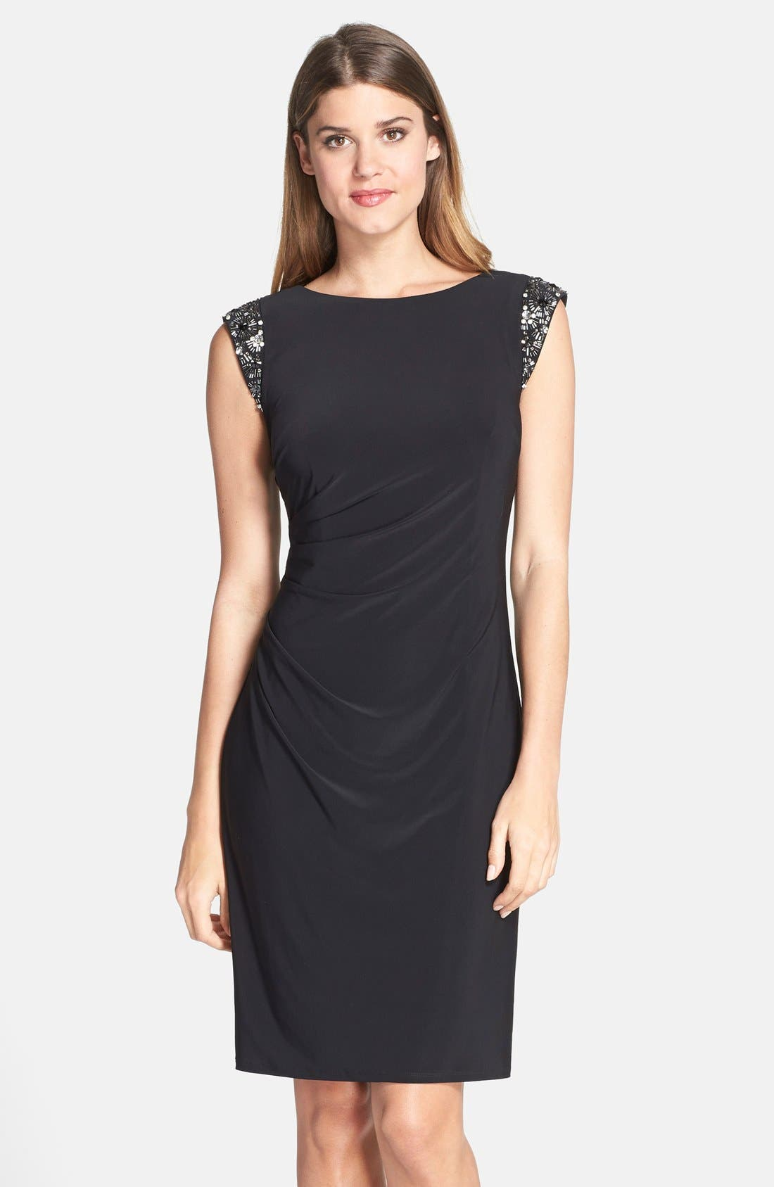 Alternate Image 1 Selected - Eliza J Embellished Back Cutout Sheath Dress