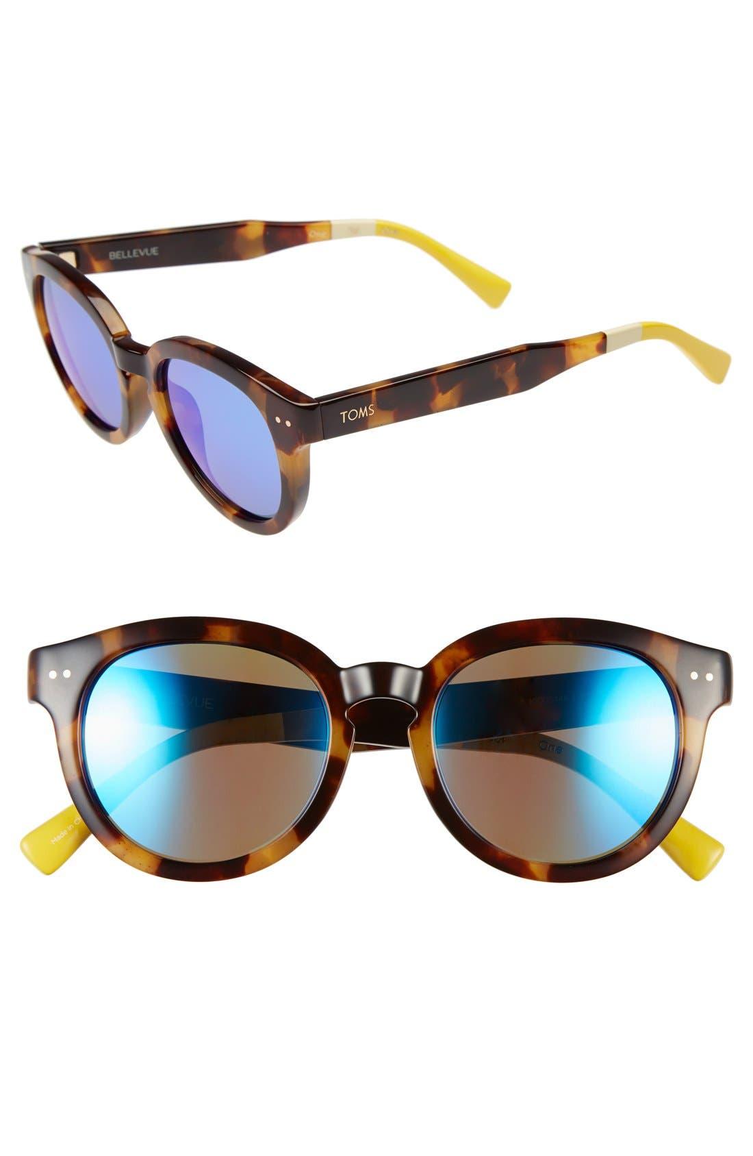 Alternate Image 1 Selected - TOMS 'Bellevue' 51mm Retro Sunglasses