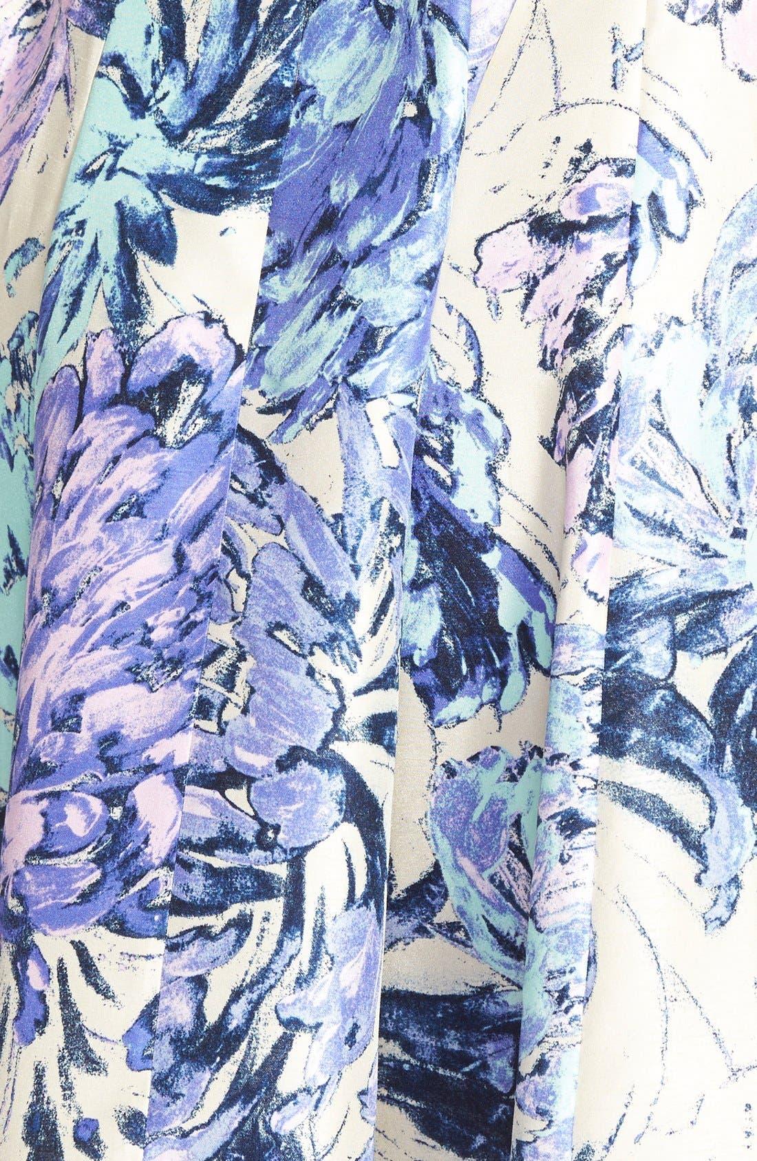 Alternate Image 3  - Taylor Dresses Floral Shantung Fit & Flare Dress (Plus Size)