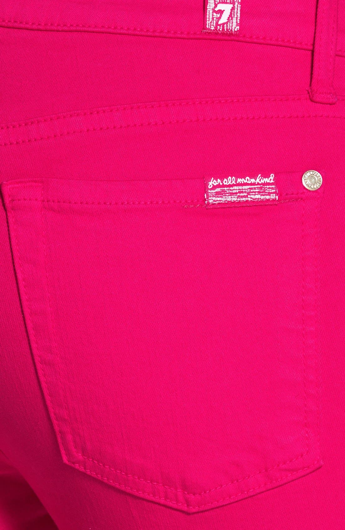 Alternate Image 3  - 7 For All Mankind® 'The Ankle Skinny' Jeans (Paradise Pink)