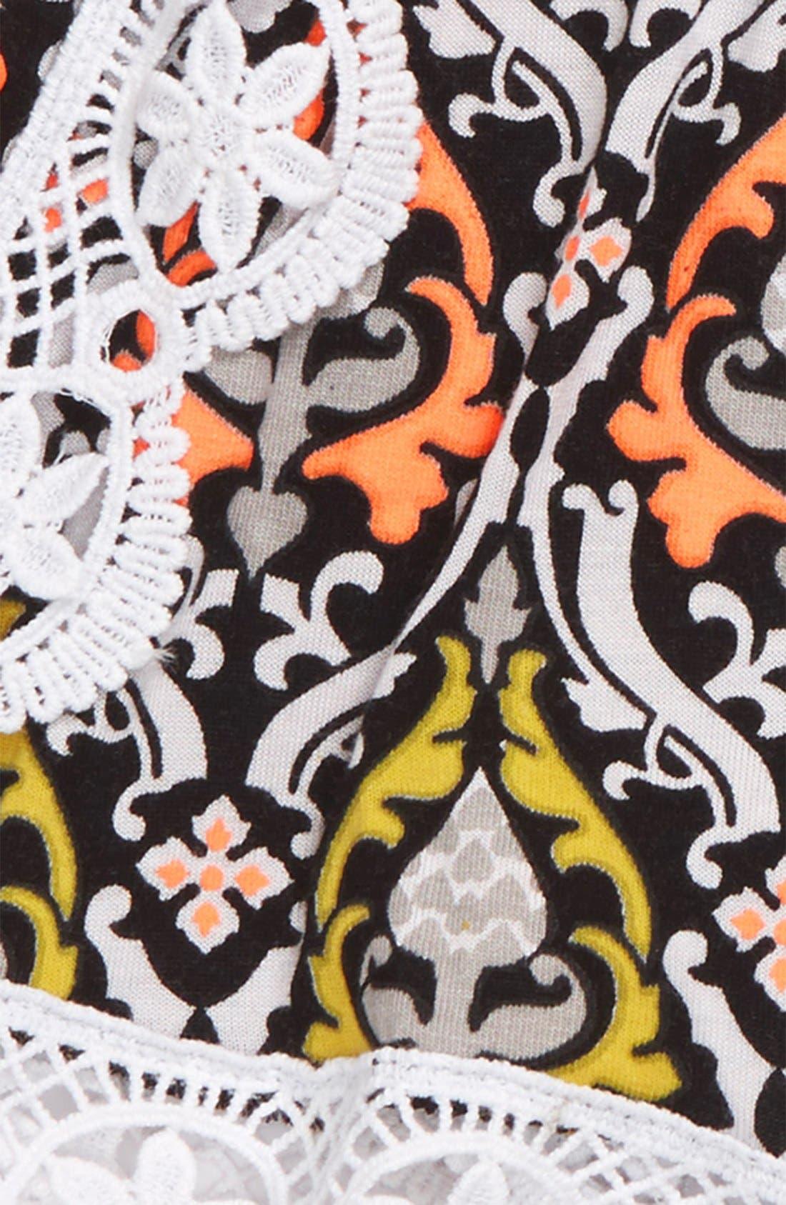Alternate Image 2  - Flowers by Zoe Crochet Trim Shorts (Toddler Girls & Little Girls)