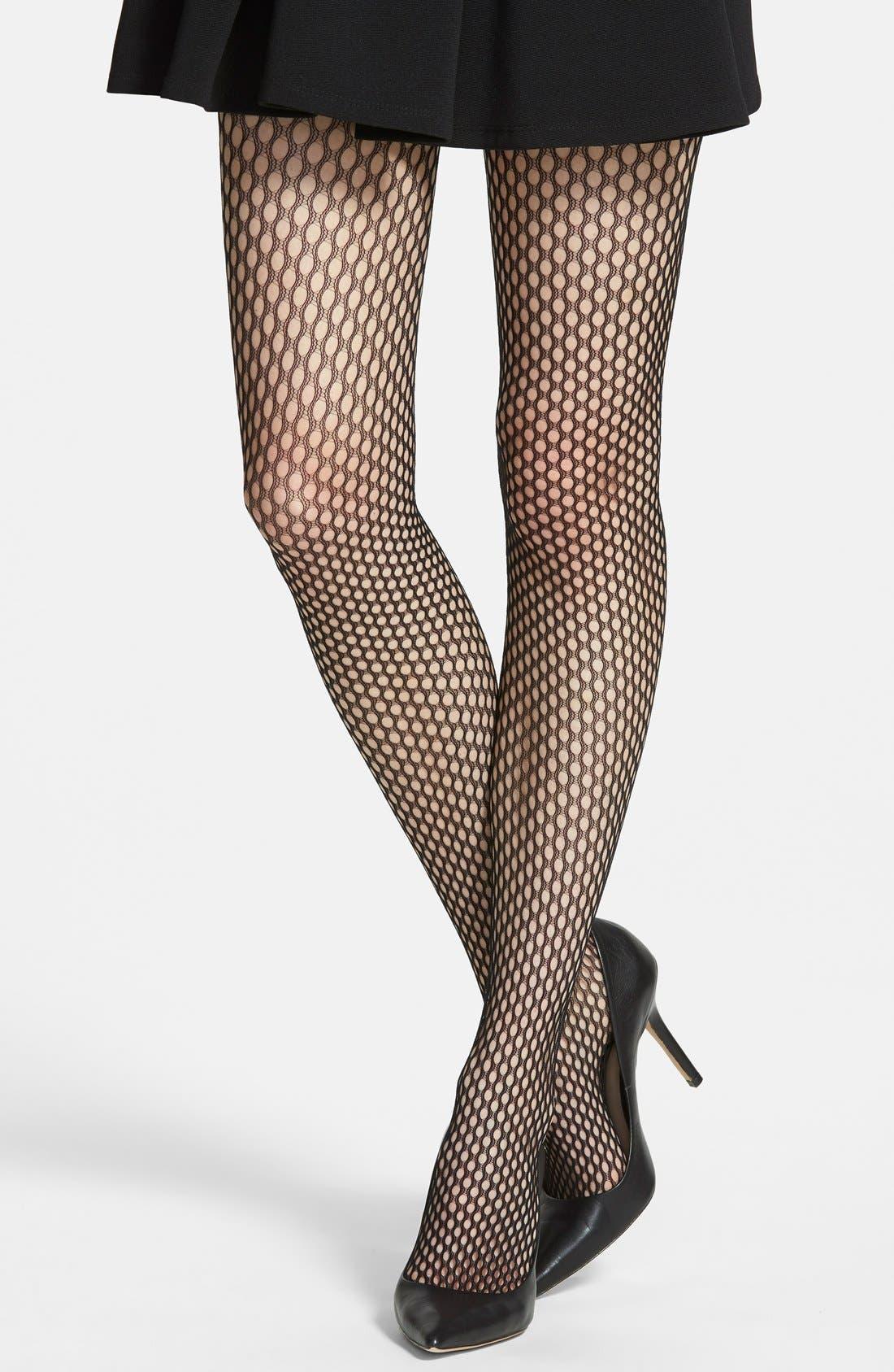 Main Image - Calvin Klein Oval Net Pantyhose