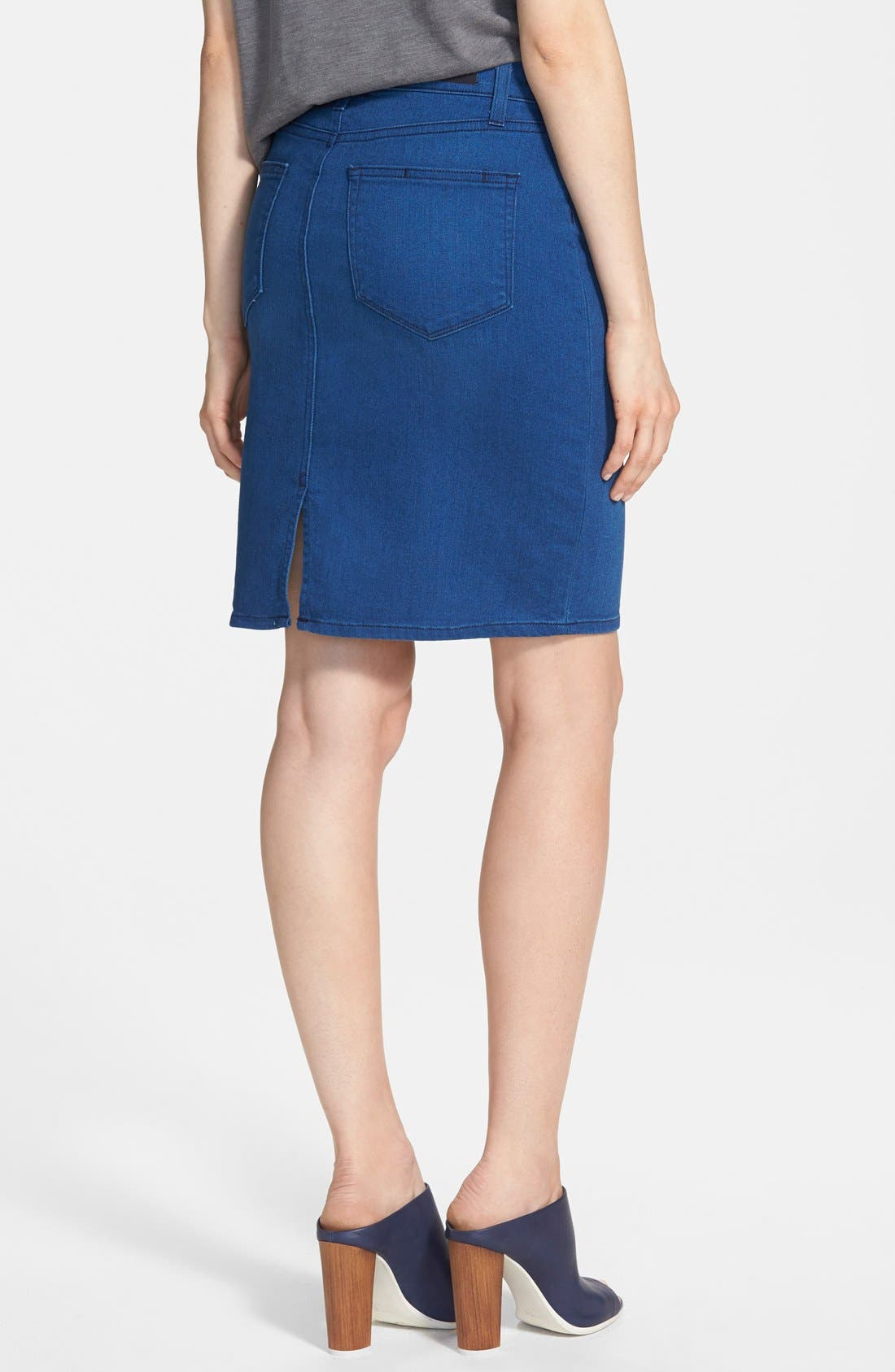 Alternate Image 2  - Paige Denim 'Deirdre' Denim Pencil Skirt (Frenchie No Whiskers)