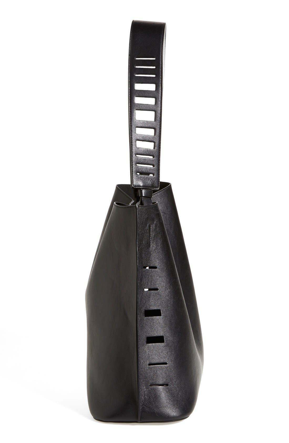 Alternate Image 4  - Vince 'Medium' Cutout Leather Hobo
