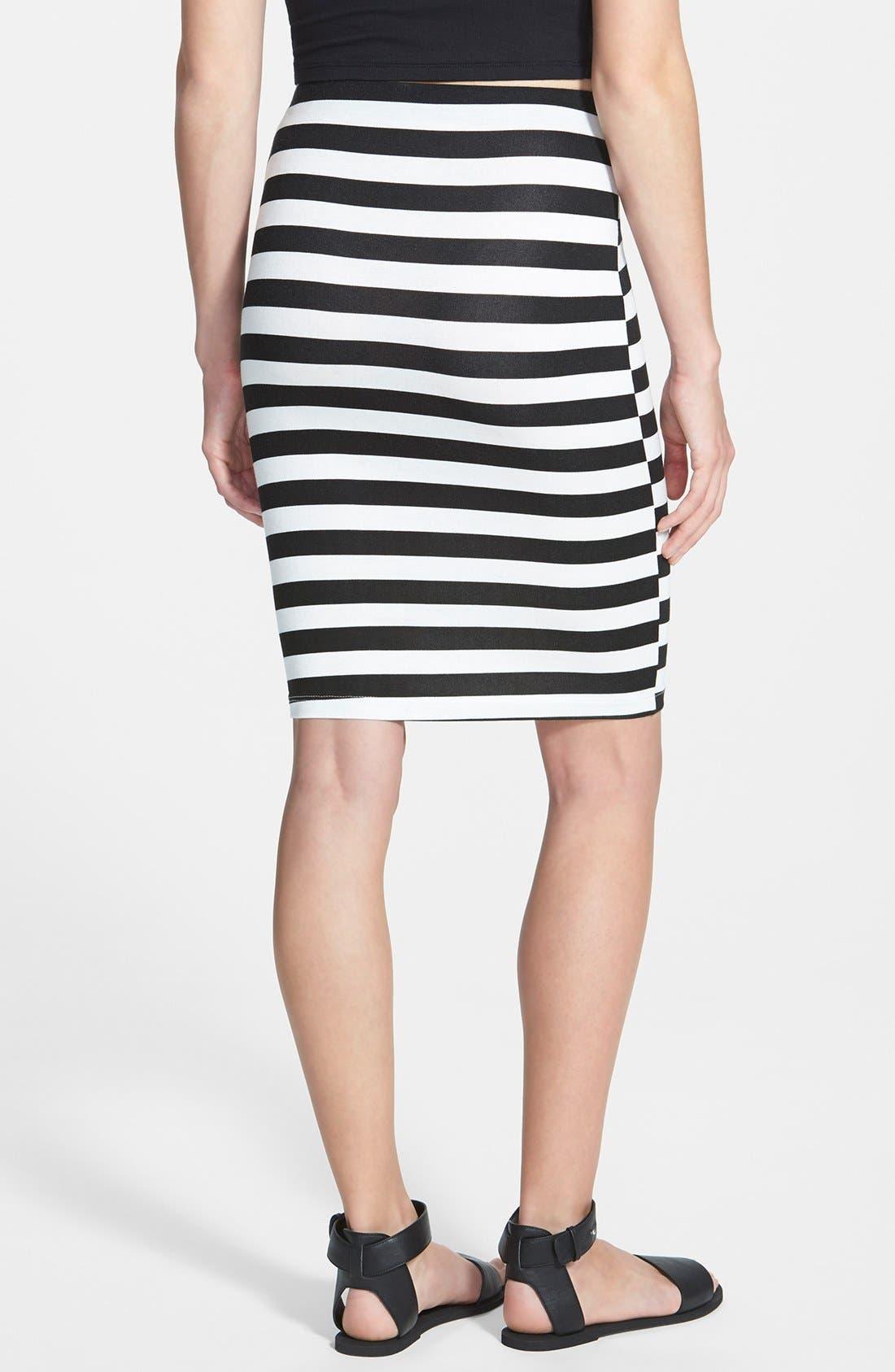 Alternate Image 2  - Lush Stripe Bandage Skirt