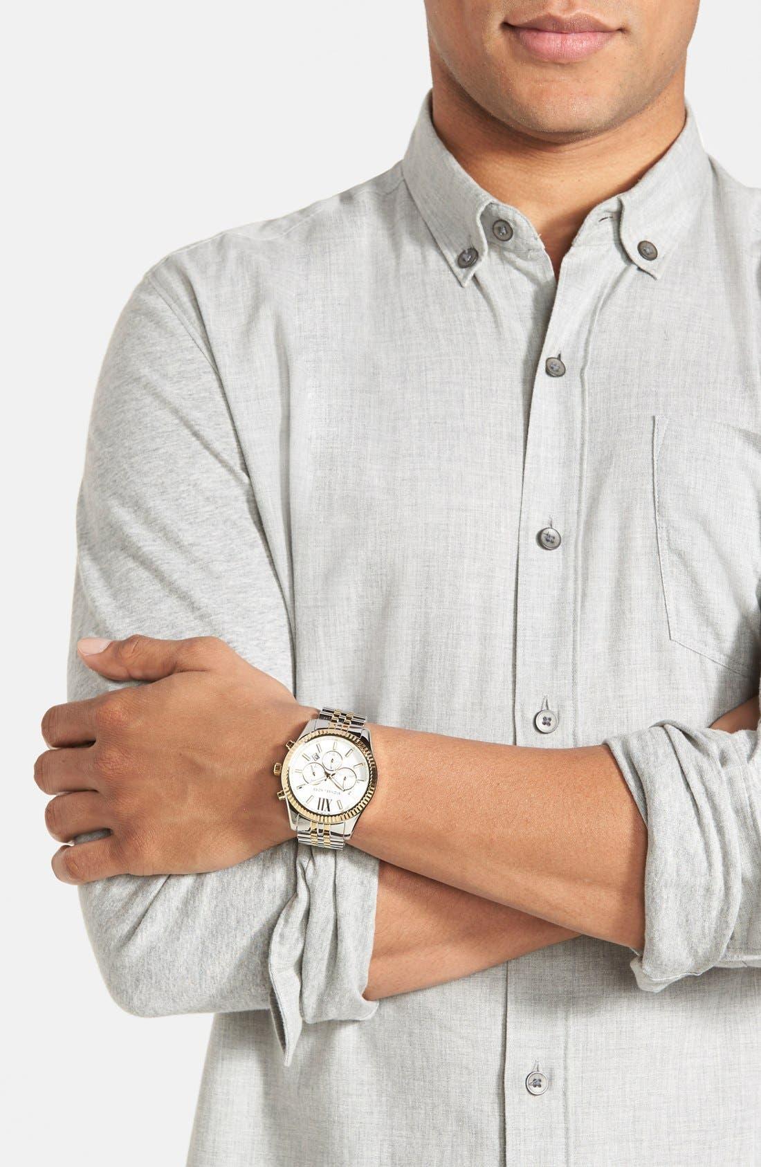 Alternate Image 5  - Michael Kors Large Lexington Chronograph Bracelet Watch, 45mm