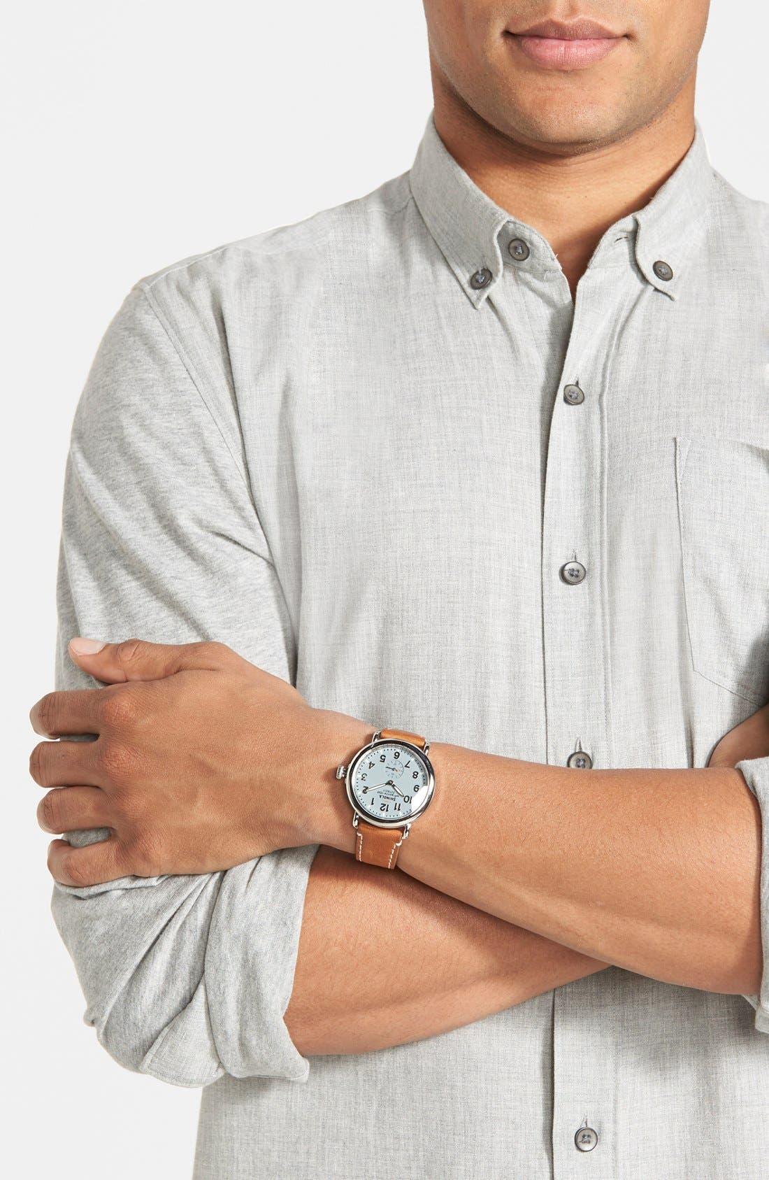 Alternate Image 4  - Shinola 'The Runwell' Leather Strap Watch, 41mm