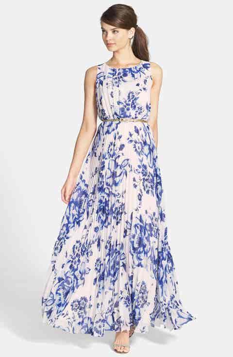 Eliza J Chiffon Maxi Dress (Regular   Petite)