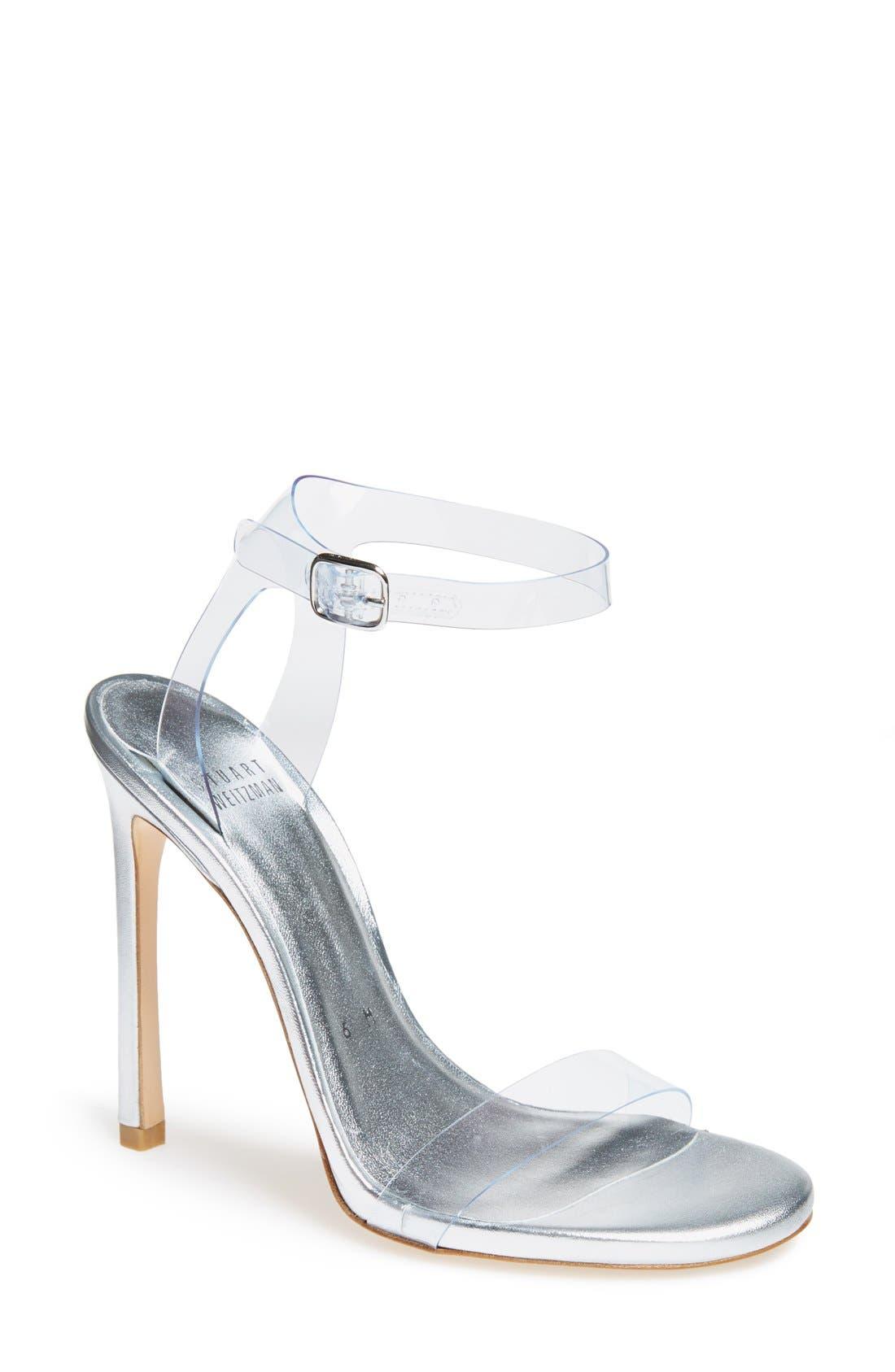 Main Image - Stuart Weitzman 'Bareitall' Translucent Strap Sandal (Women)