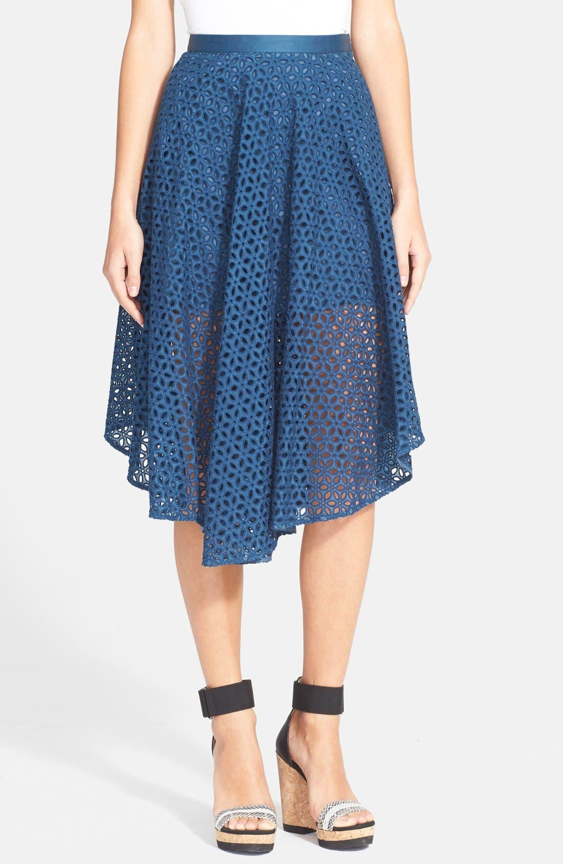 Alternate Image 1 Selected - Tibi 'Hanae' Eyelet Skirt