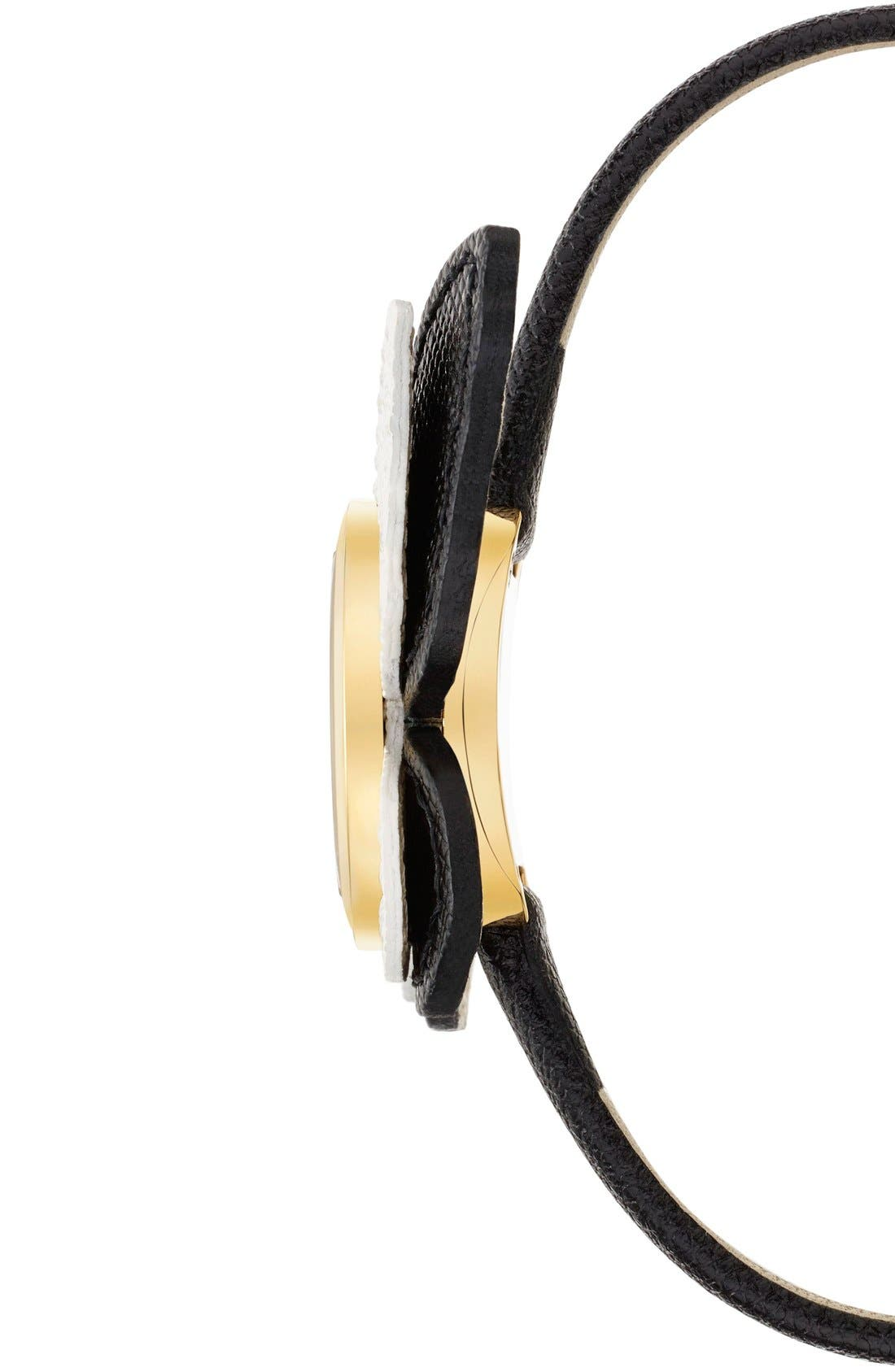 Alternate Image 3  - kate spade new york butterfly leather strap watch, 20mm