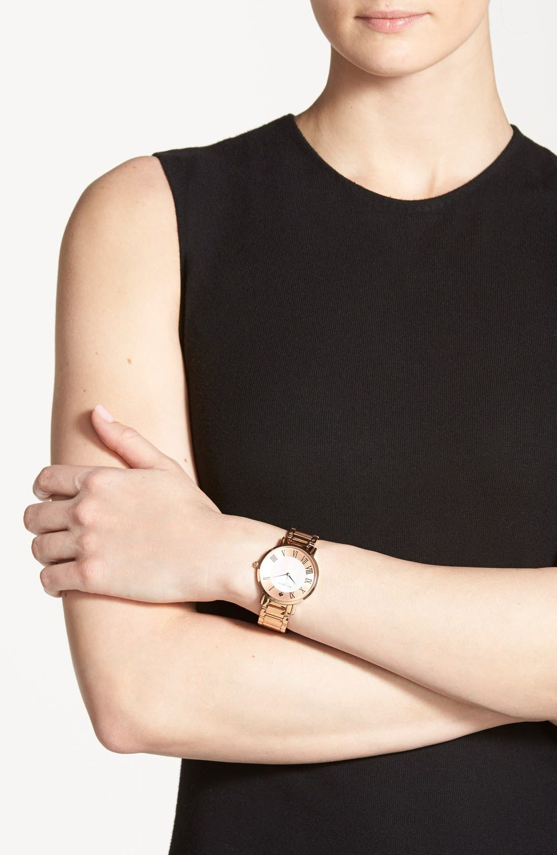 Alternate Image 4  - kate spade new york 'gramercy grand' round bracelet watch, 38mm