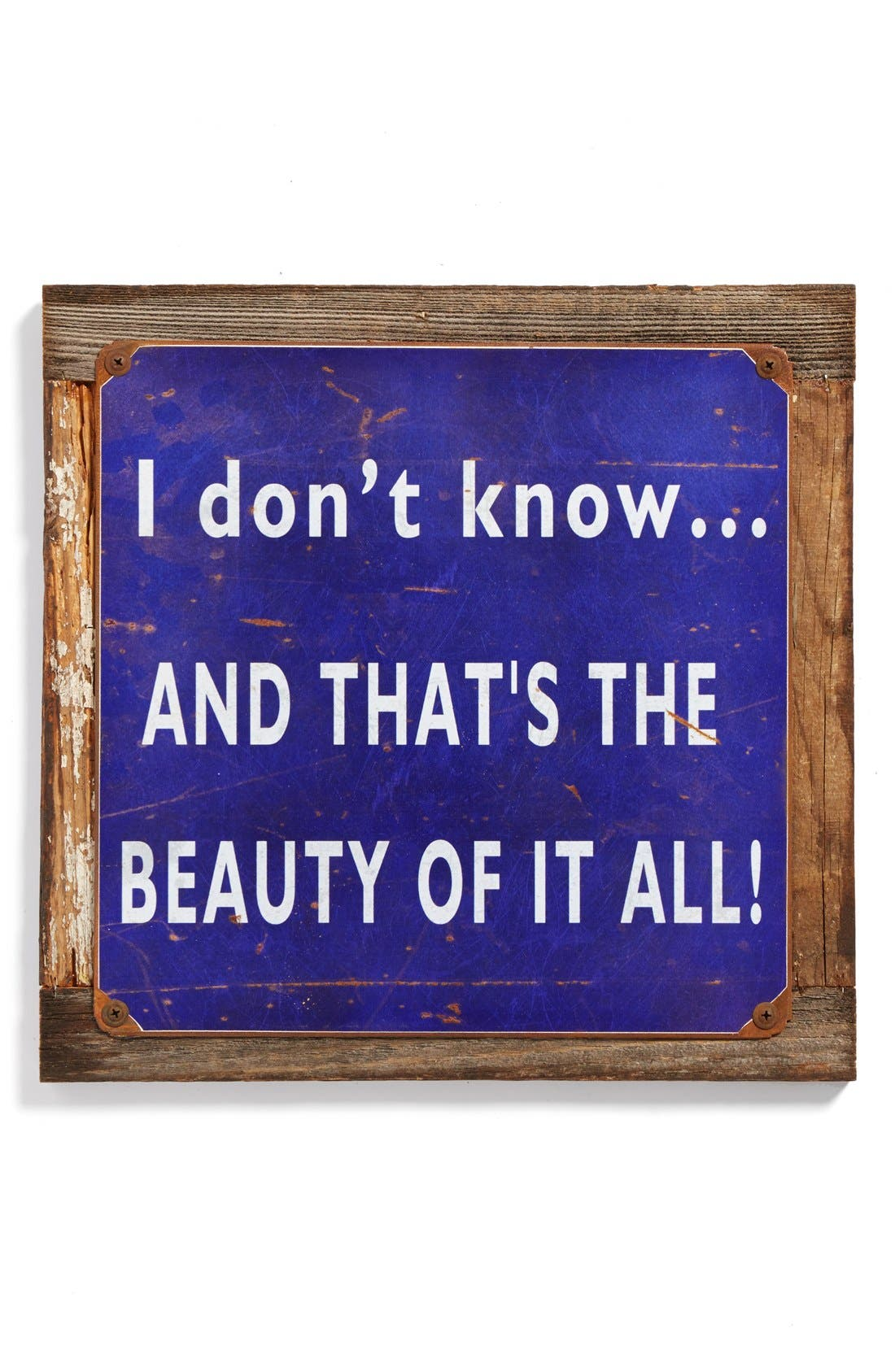 Alternate Image 1 Selected - Poncho & Goldstein 'I Don't Know … Beauty' Sign