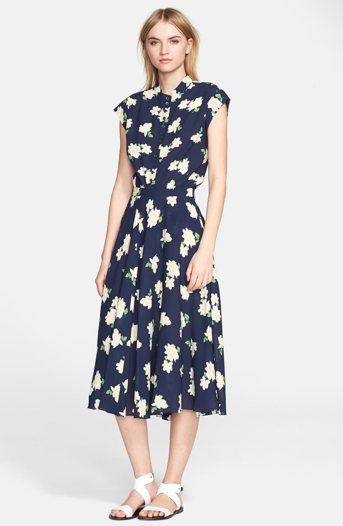 Alternate Image 3  - Michael Kors Floral Print Silk Georgette Circle Skirt