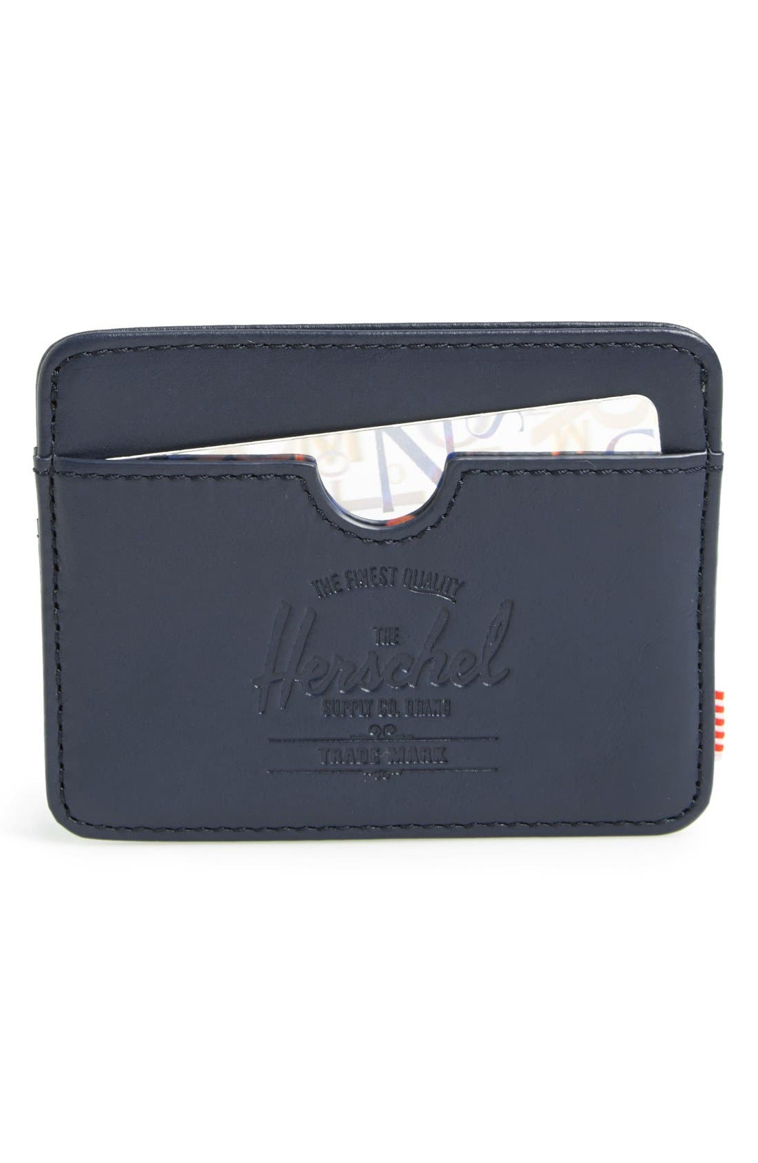 Main Image - Herschel Supply Co. 'Charlie' Leather Card Case