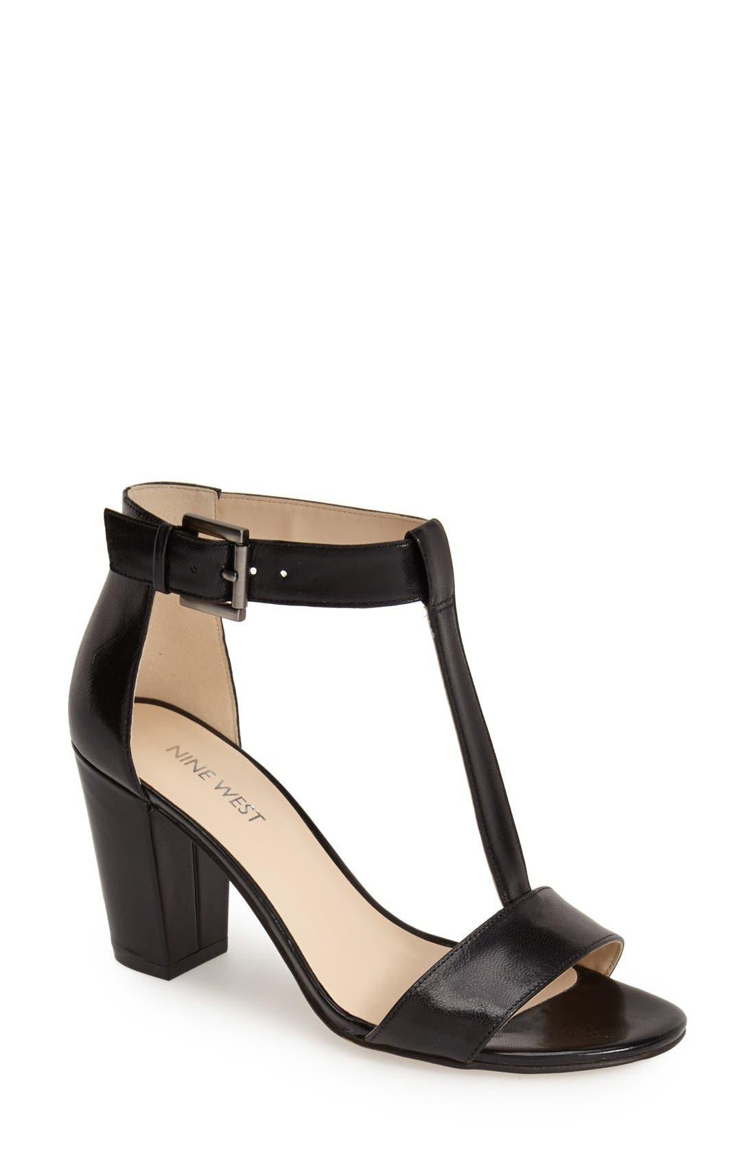 Main Image - Nine West 'Brannah' T-Strap Sandal (Women)