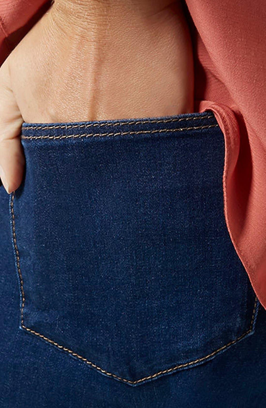 Alternate Image 4  - Topshop Moto 'Leigh' Maternity Skinny Jeans (Regular & Short)