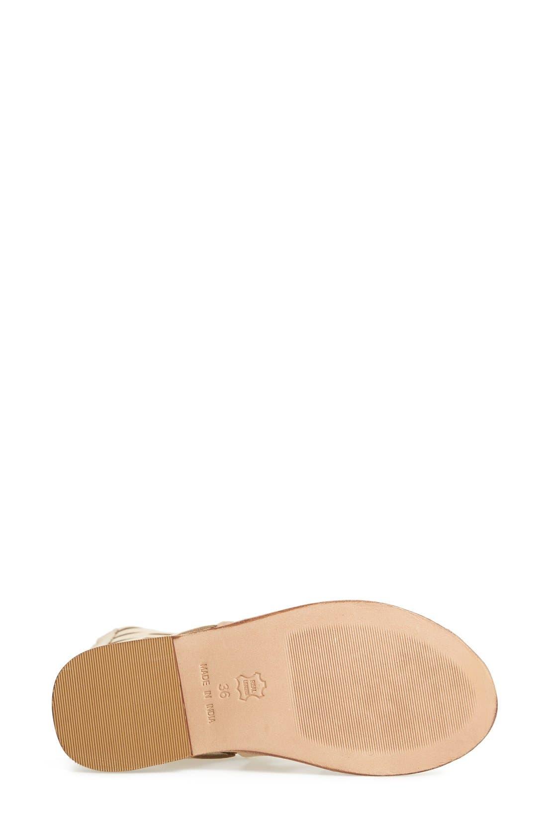 Alternate Image 4  - Topshop 'Figtree' Leather Gladiator Sandal (Women)