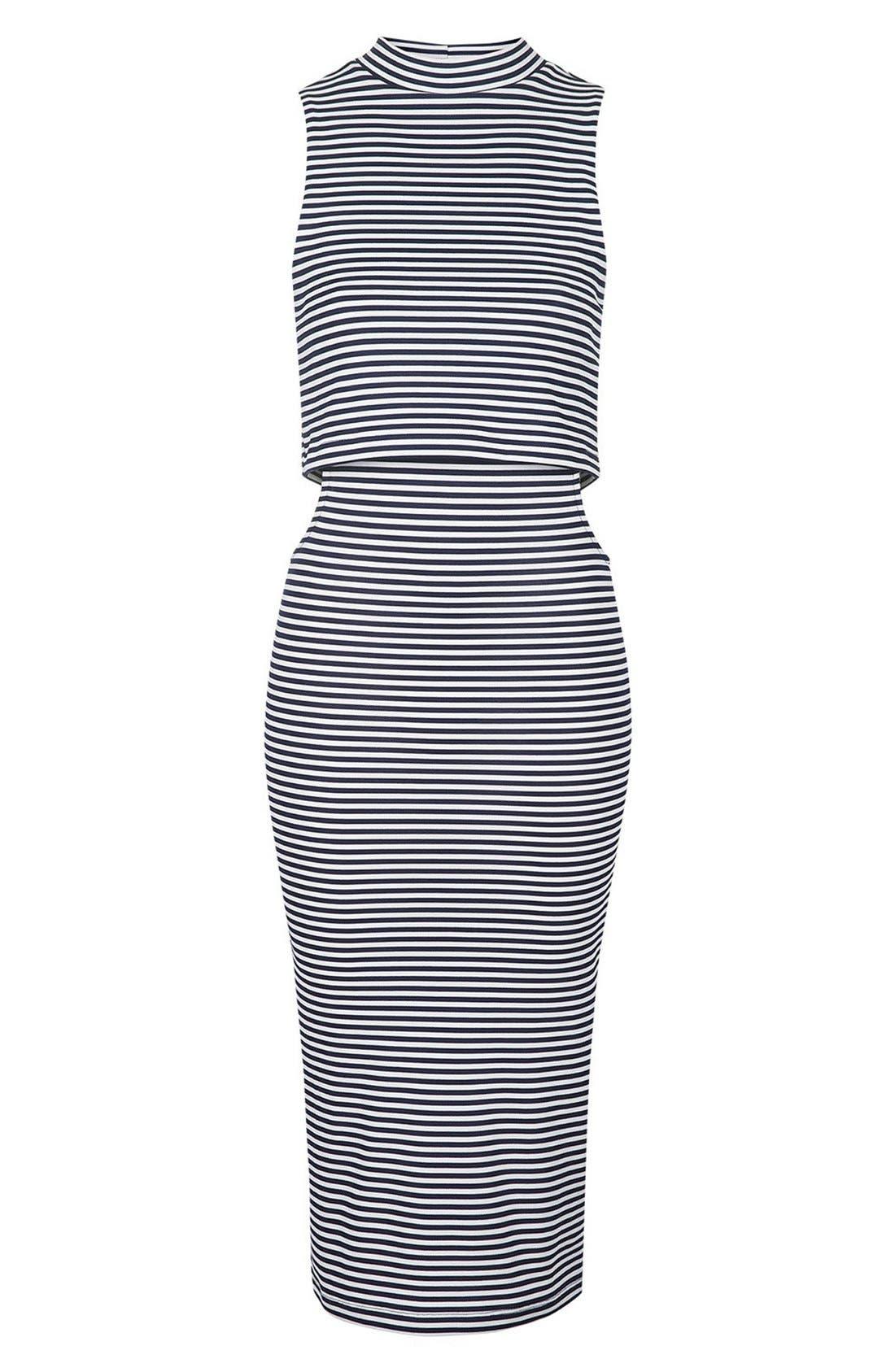Alternate Image 3  - Topshop Cutout Midi Dress