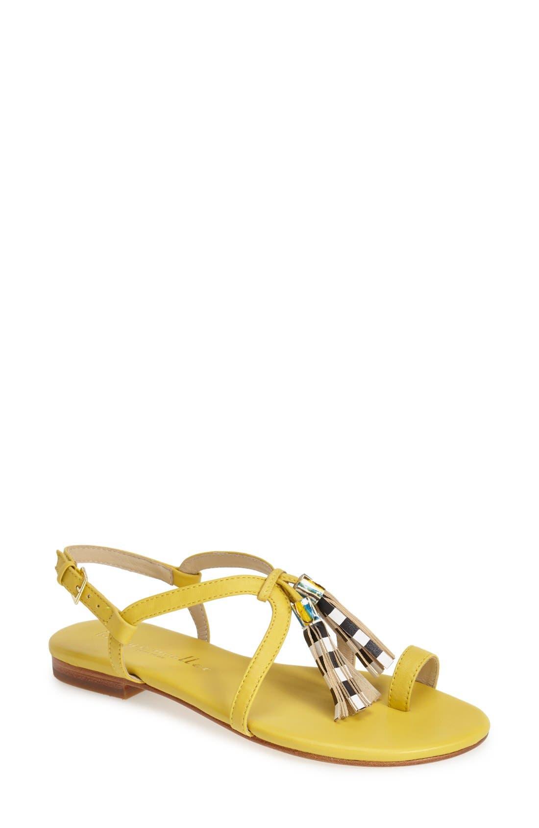 Alternate Image 1 Selected - Bettye Muller 'Sasha' Leather Tassel Sandal (Women)